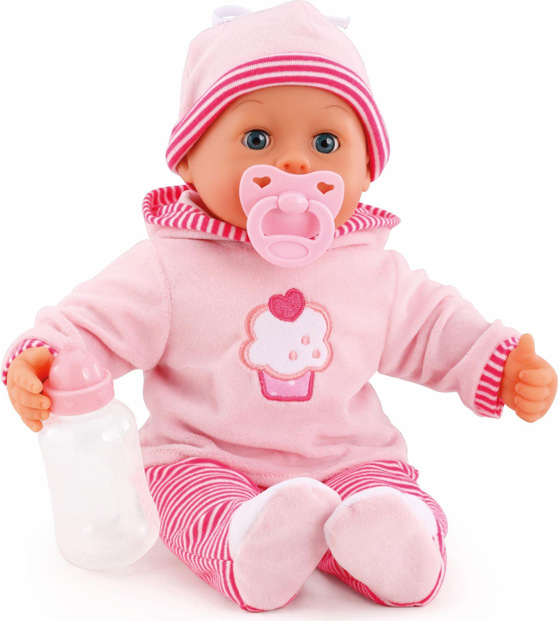 BAYER Bayer Design Babypuppe mit Funktion, »First Words Baby, pink 38 cm«
