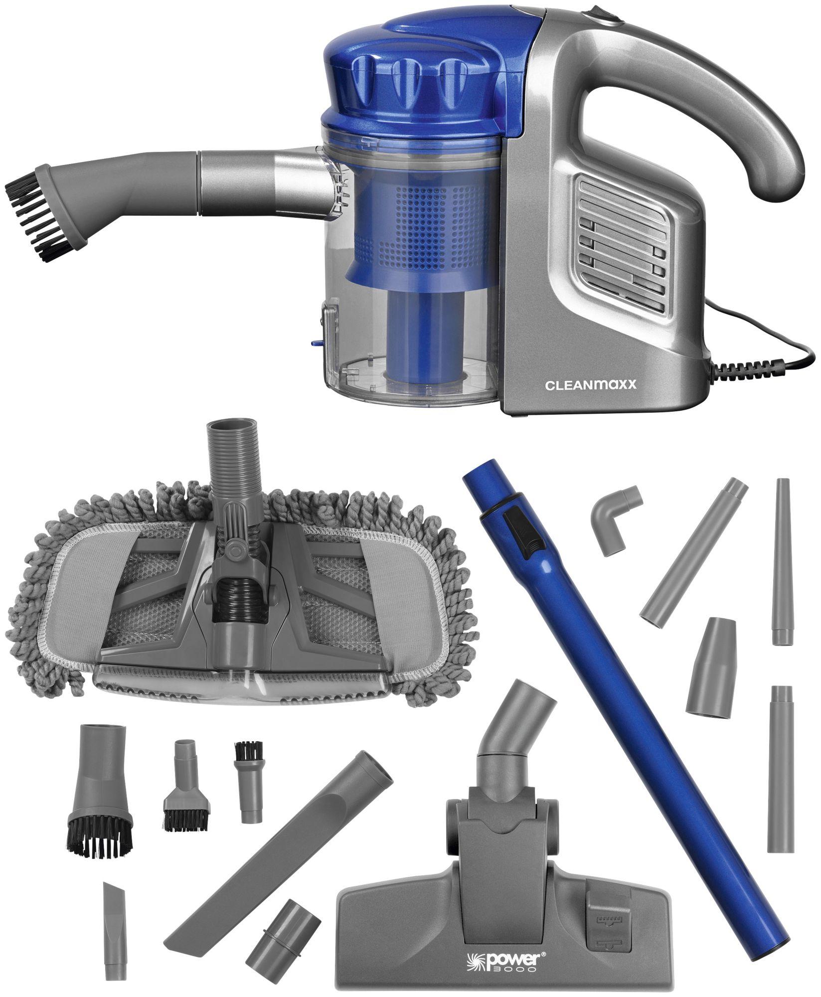 CLEAN MAXX Clean Maxx Zyklon-Handstaubsauger Multi-Sensation 2in1, beutellos, 600 Watt, Energieklasse A, blau-silber