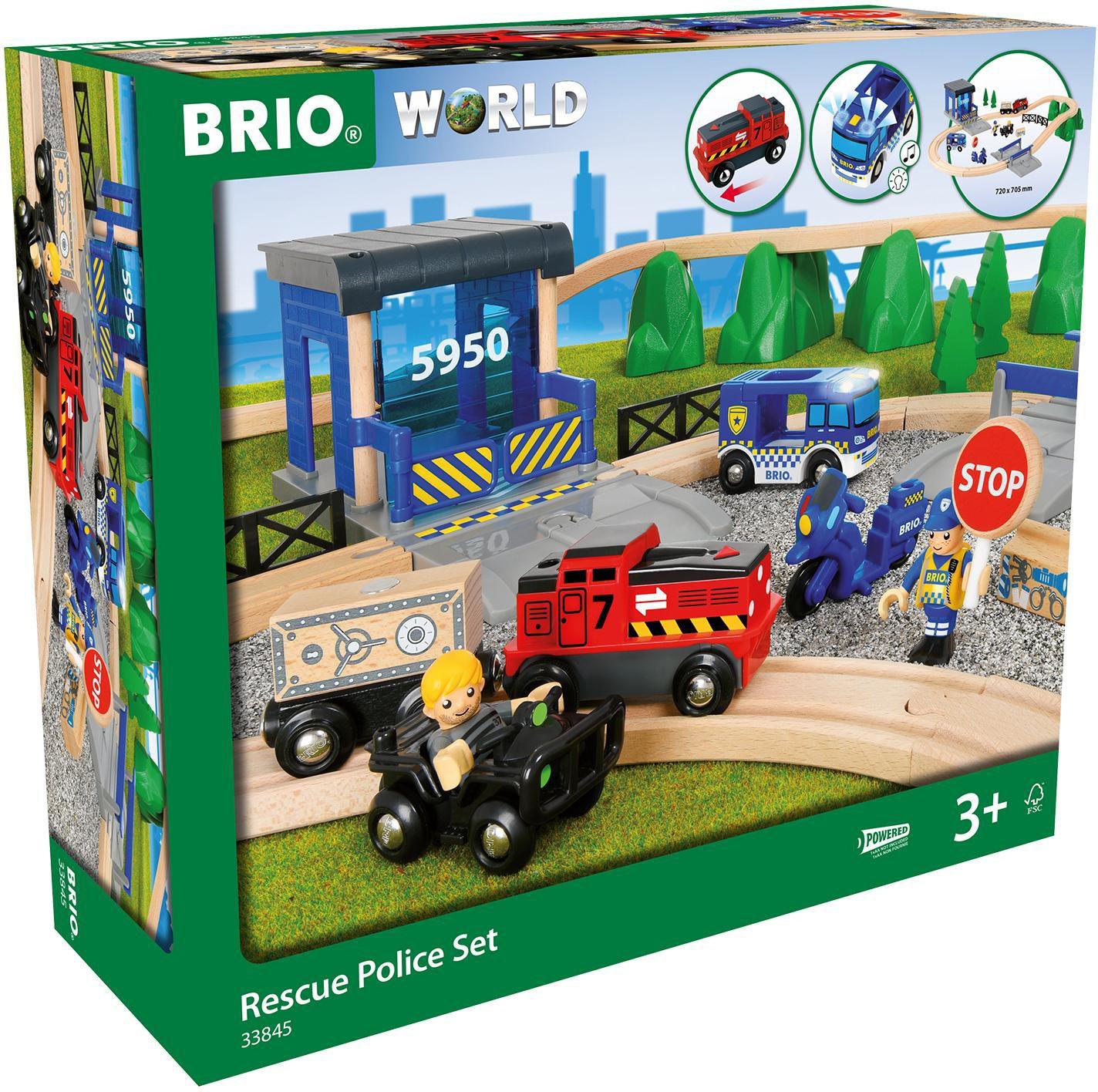 BRIO Bahn Großes Polizei Deluxe-Set, Konstruktionsspielzeug