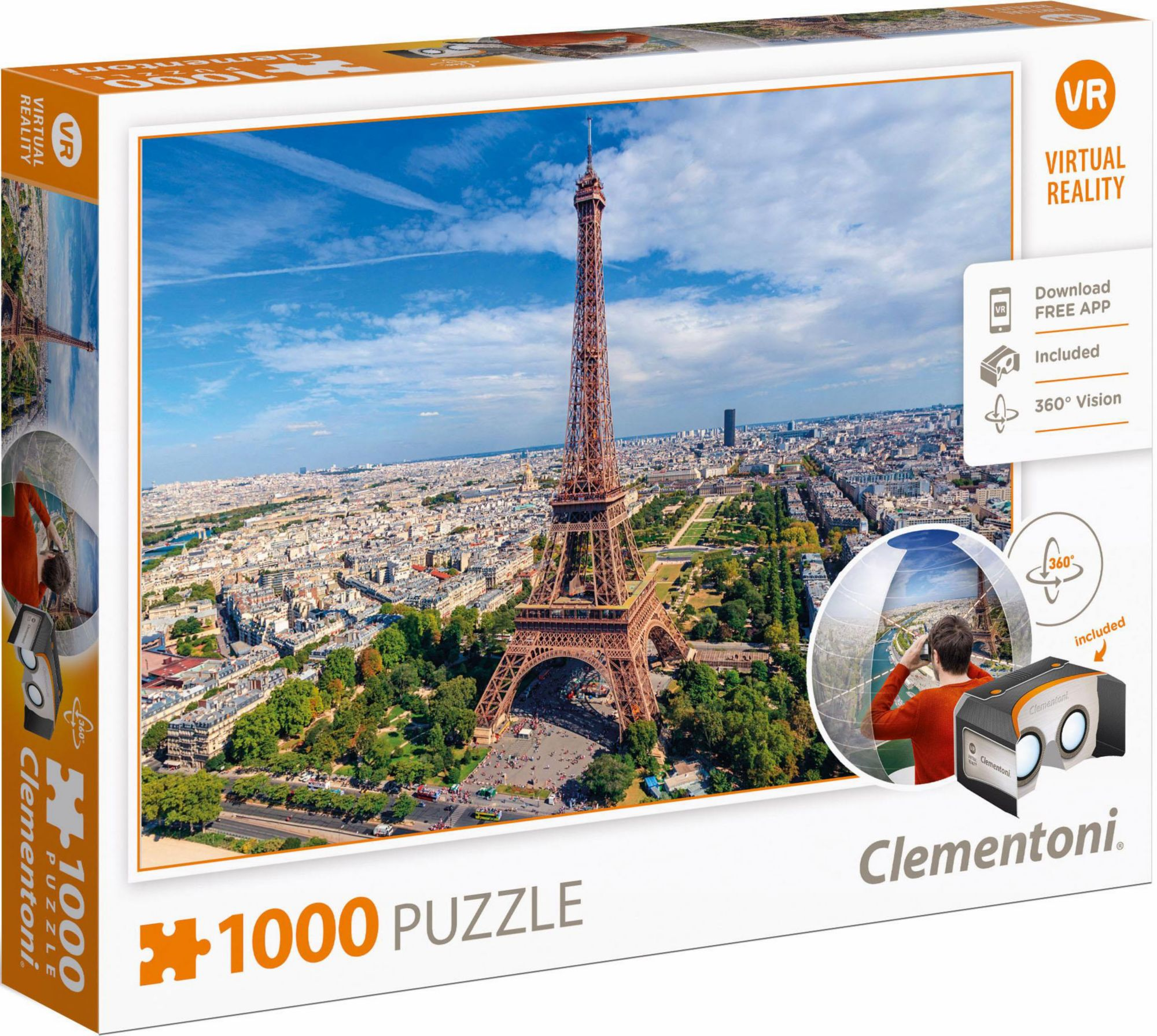 CLEMENTONI Clementoni Puzzle, 1000 Teile, »Paris, Virtual Reality«