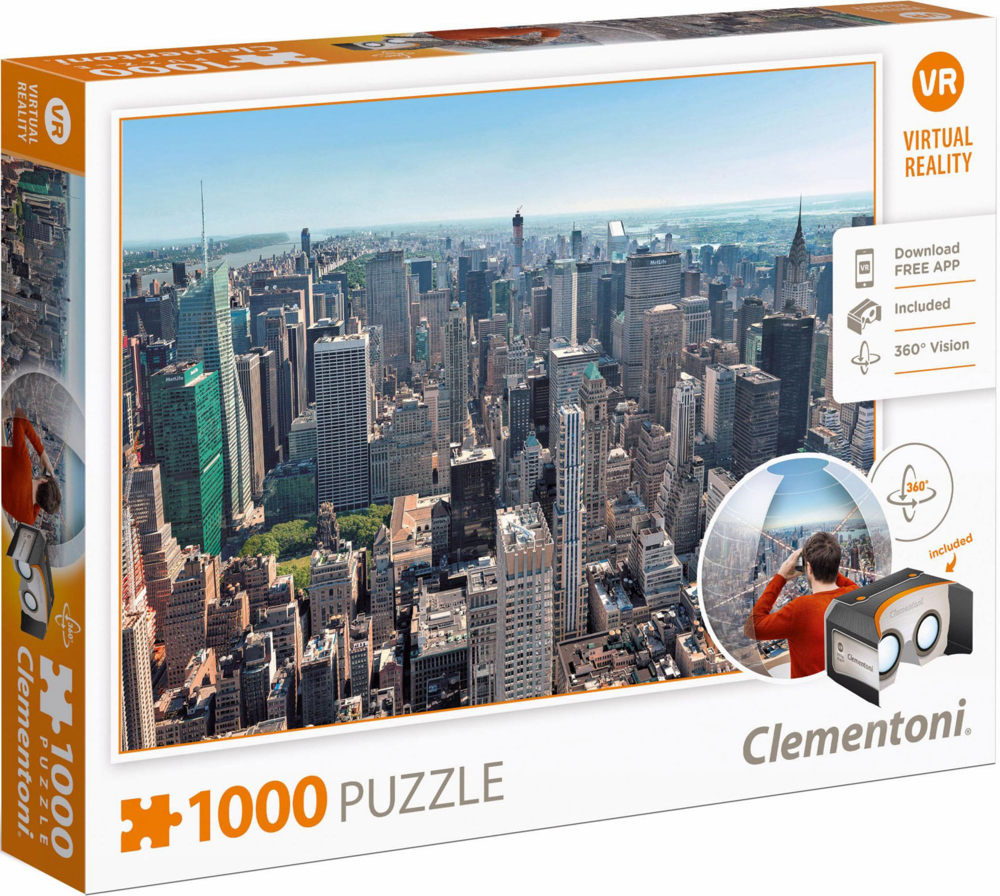 CLEMENTONI Clementoni Puzzle, 1000 Teile, »New York, Virtual Reality«