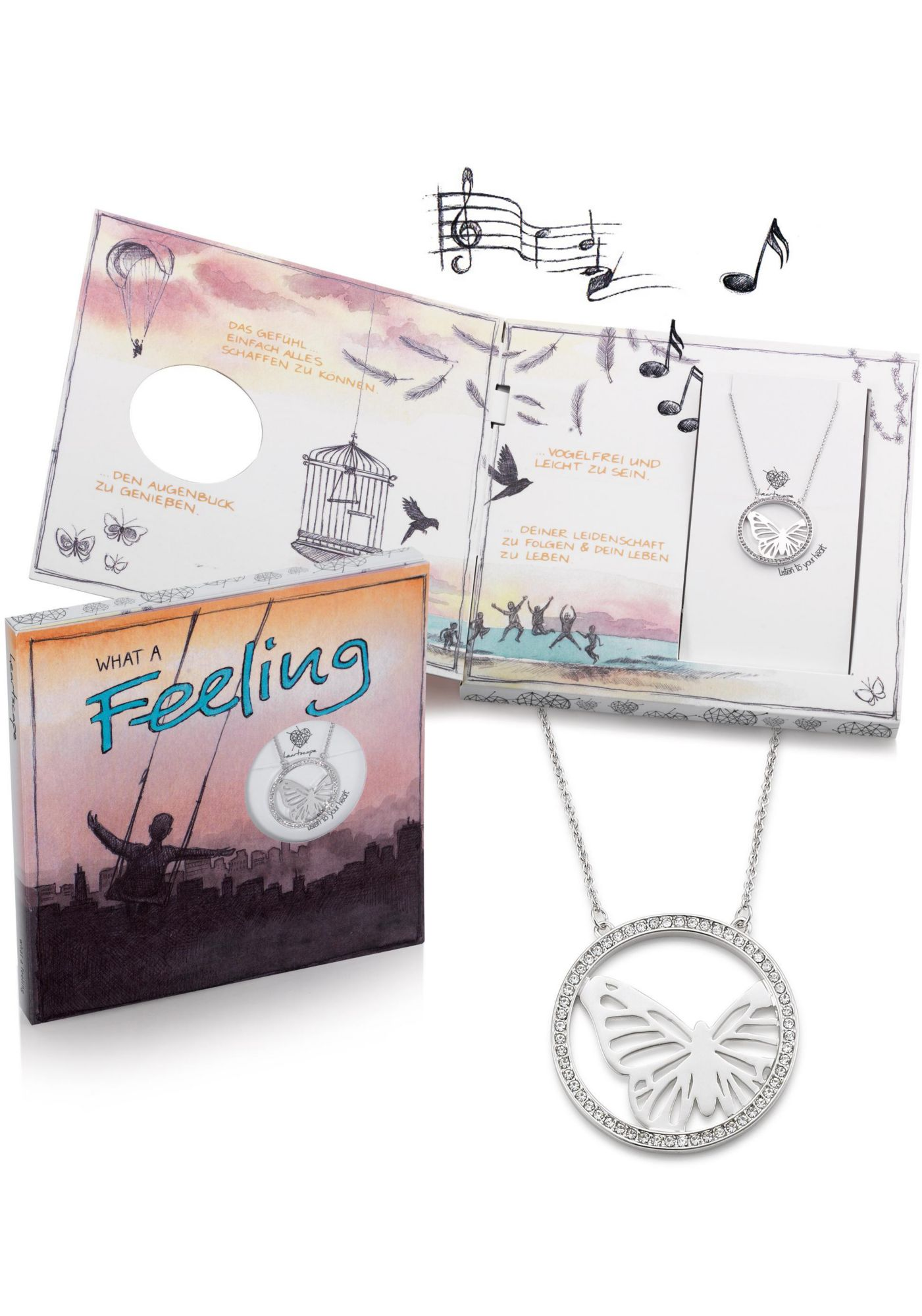 HEARTSCAPE heartscape Kette mit Anhänger »Schmetterling, WHAT A Feeling«