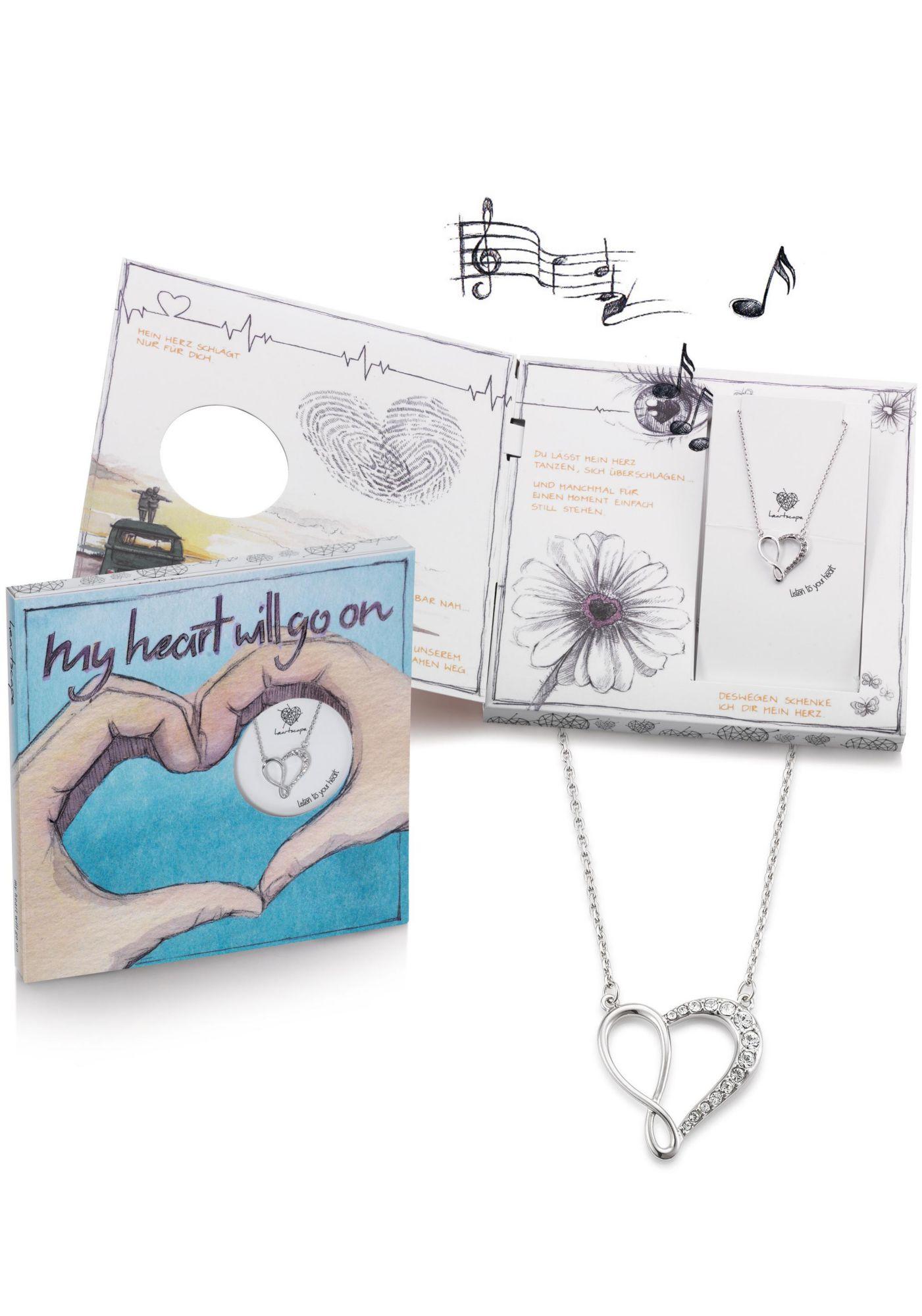 HEARTSCAPE heartscape Kette mit Anhänger »Herz mit Infinity / Unendlichkeitsschleife, my heart will go on«