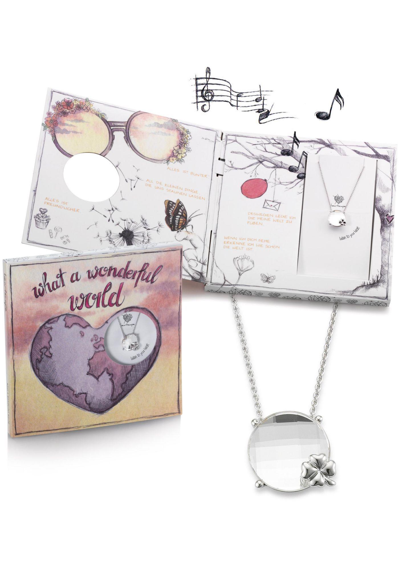 HEARTSCAPE heartscape Kette mit Anhänger »Kleeblatt, what a wonderful world«