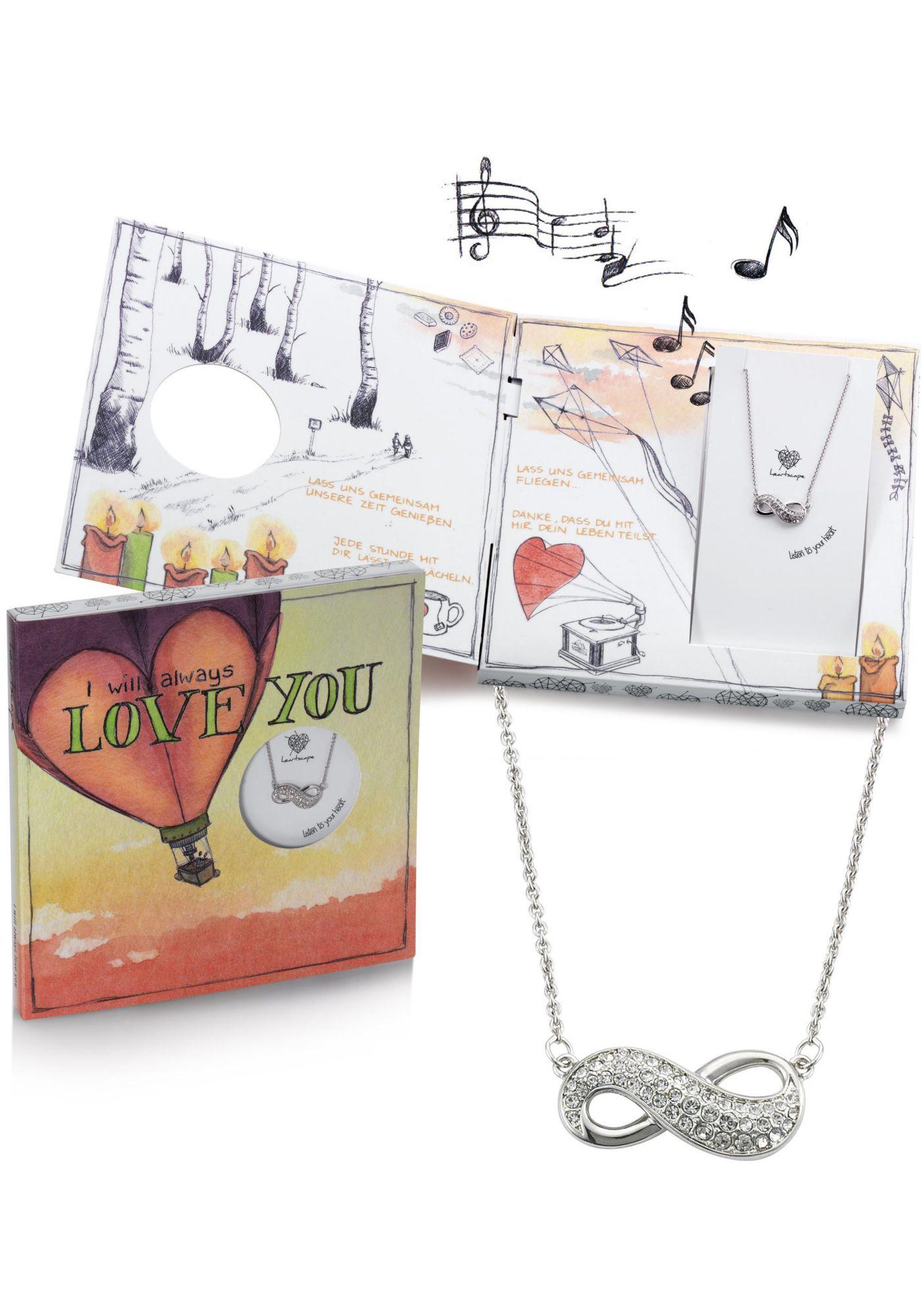 HEARTSCAPE heartscape Kette mit Anhänger »Infinity / Unendlichkeitsschleife, I will always LOVE YOU«