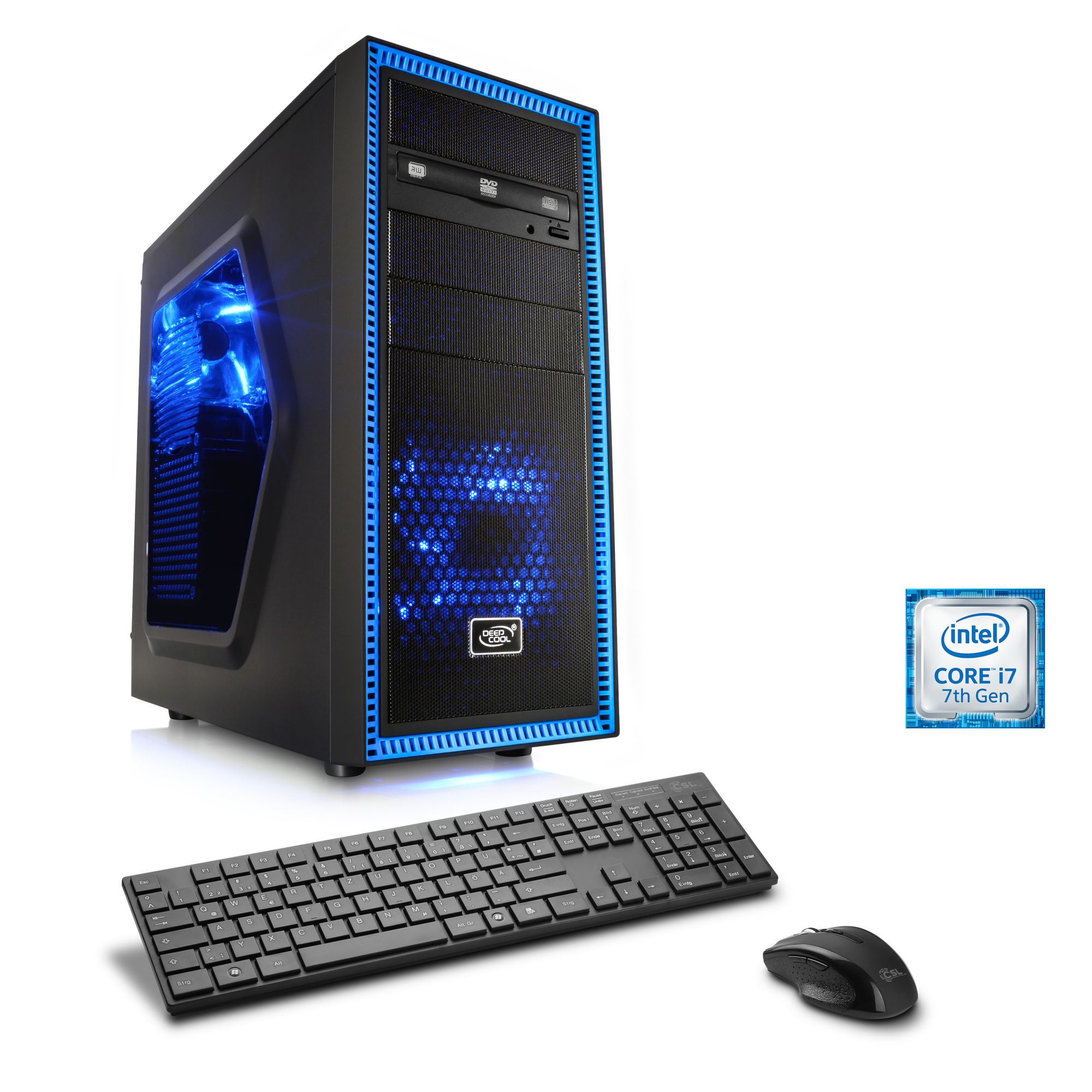 CSL  Extreme Gaming PC | i7-7700 | GTX 1080 | 16GB DDR4 | 240GB SSD »Speed T7593 Windows 10«