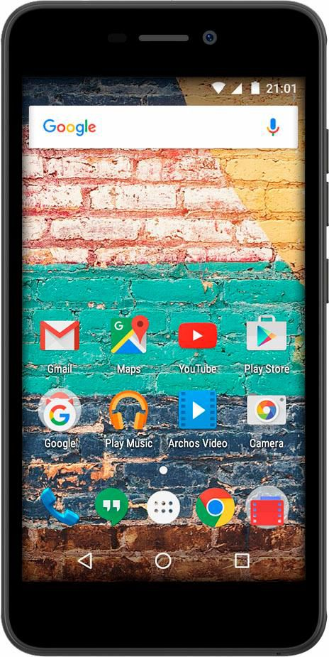 ARCHOS Archos 50f Neon Smartphone, 12,7 cm (5 Zoll) Display, Android 7.0 (Nougat), 8,0 Megapixel