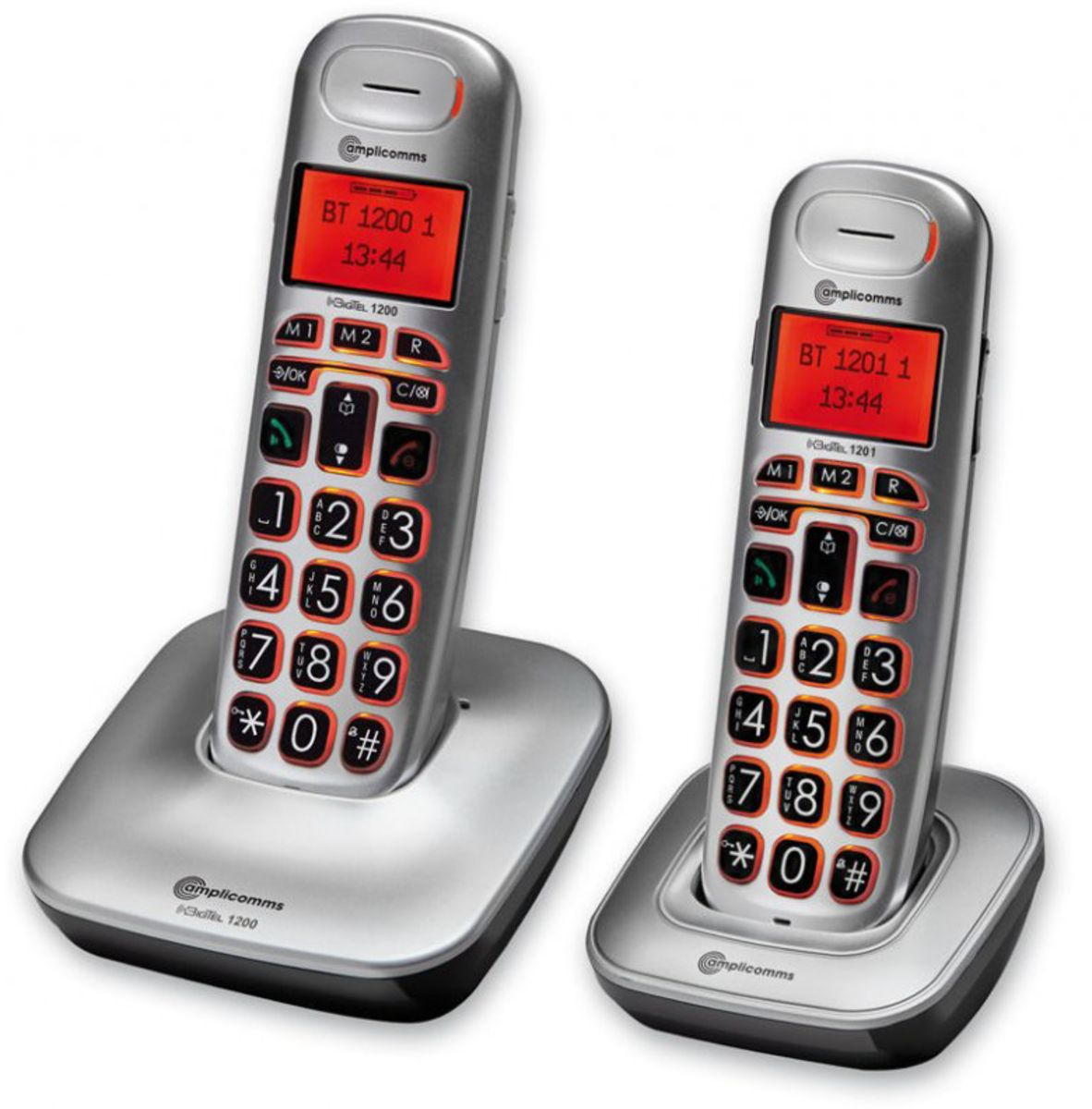 AMPLICOMMS amplicomms Telefon analog schnurlos »BigTel 1202«