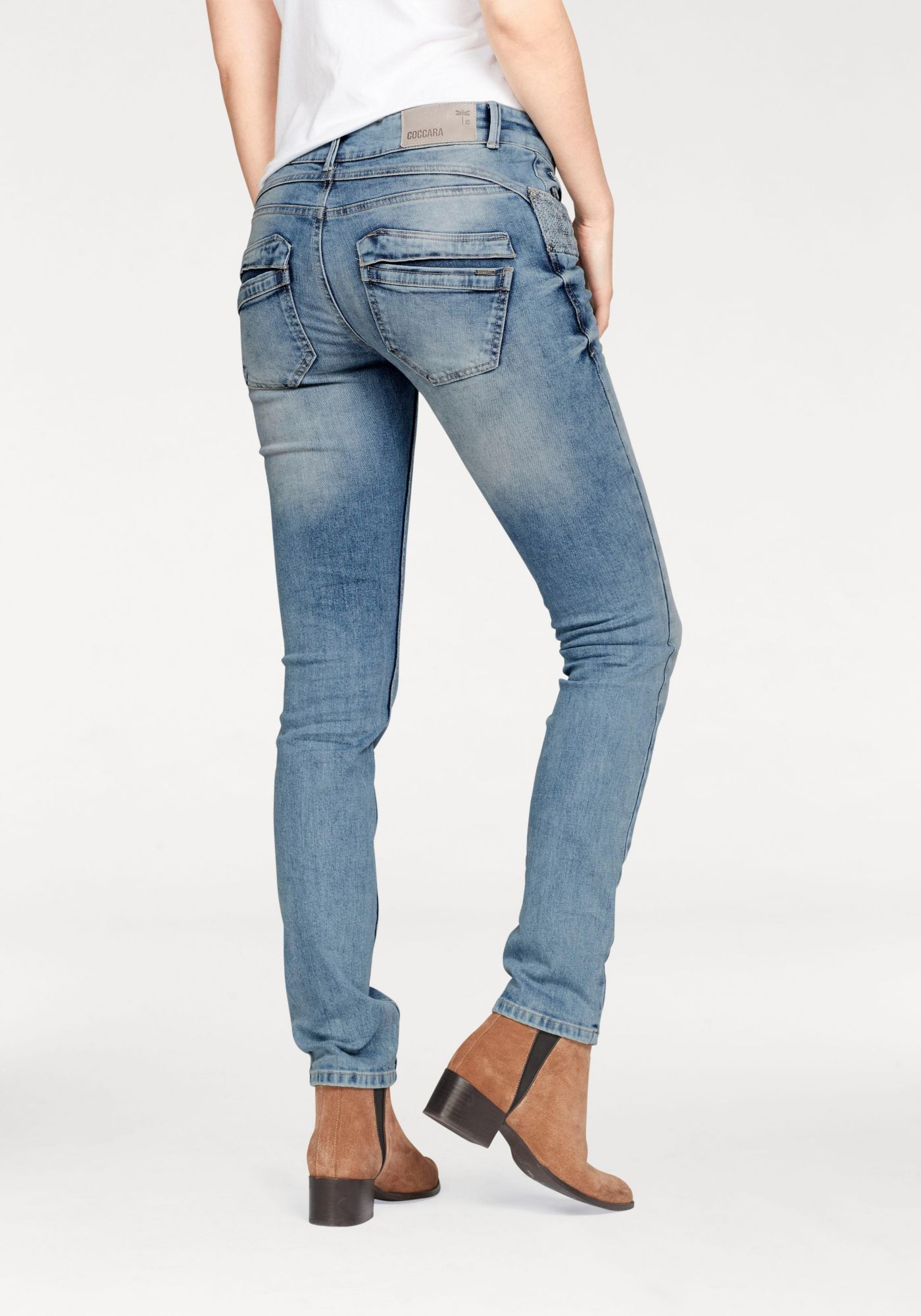 COCCARA Coccara Slim-fit-Jeans »CURLY«