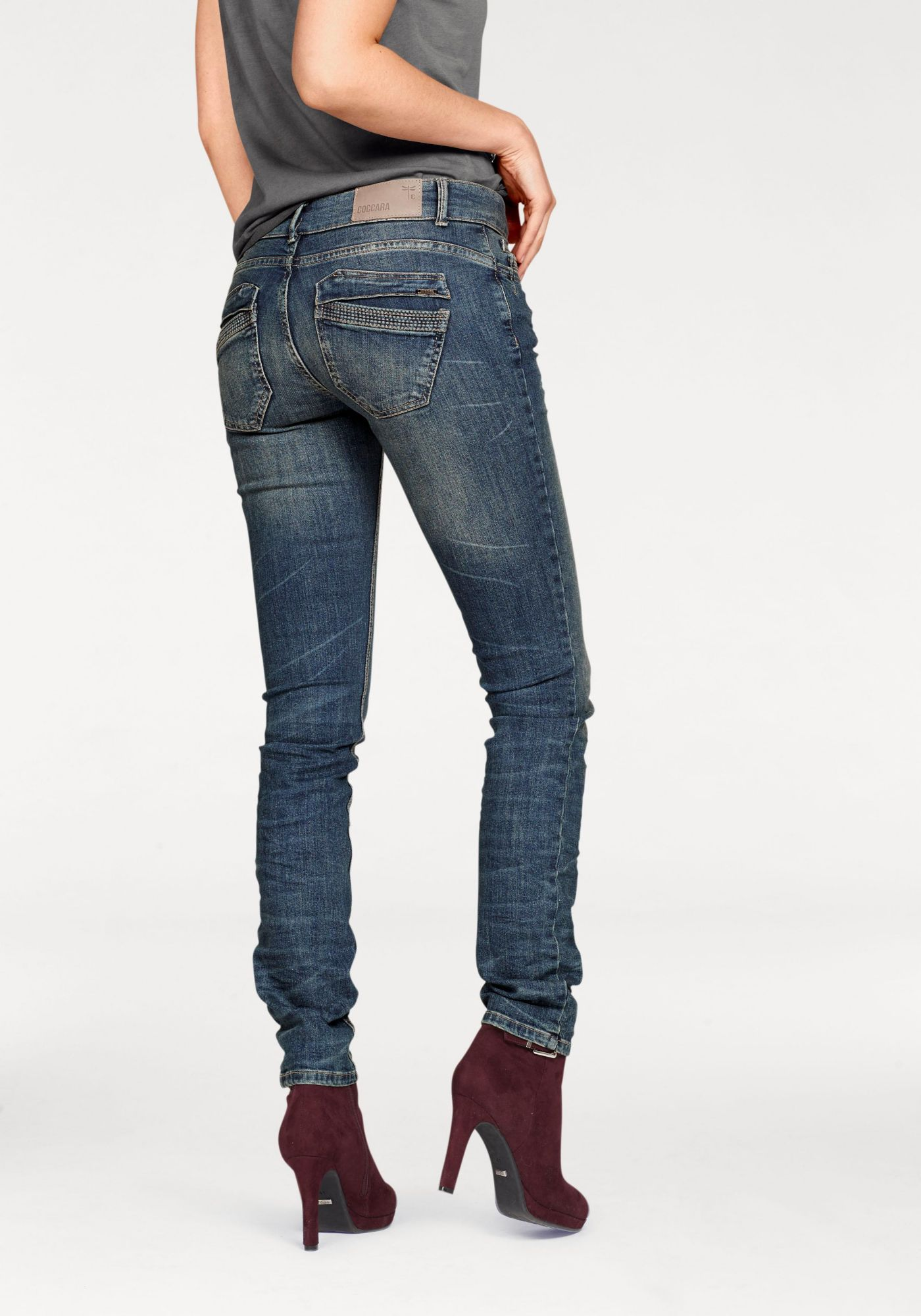 """COCCARA Coccara Slim-fit-Jeans »""""""""CURLY BUTTON""""""""«"""
