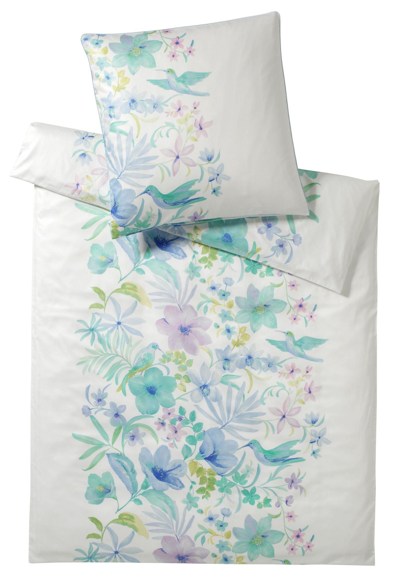 ELEGANTE Bettwäsche, elegante, »Hawaii«, mit Blumen und Vögeln