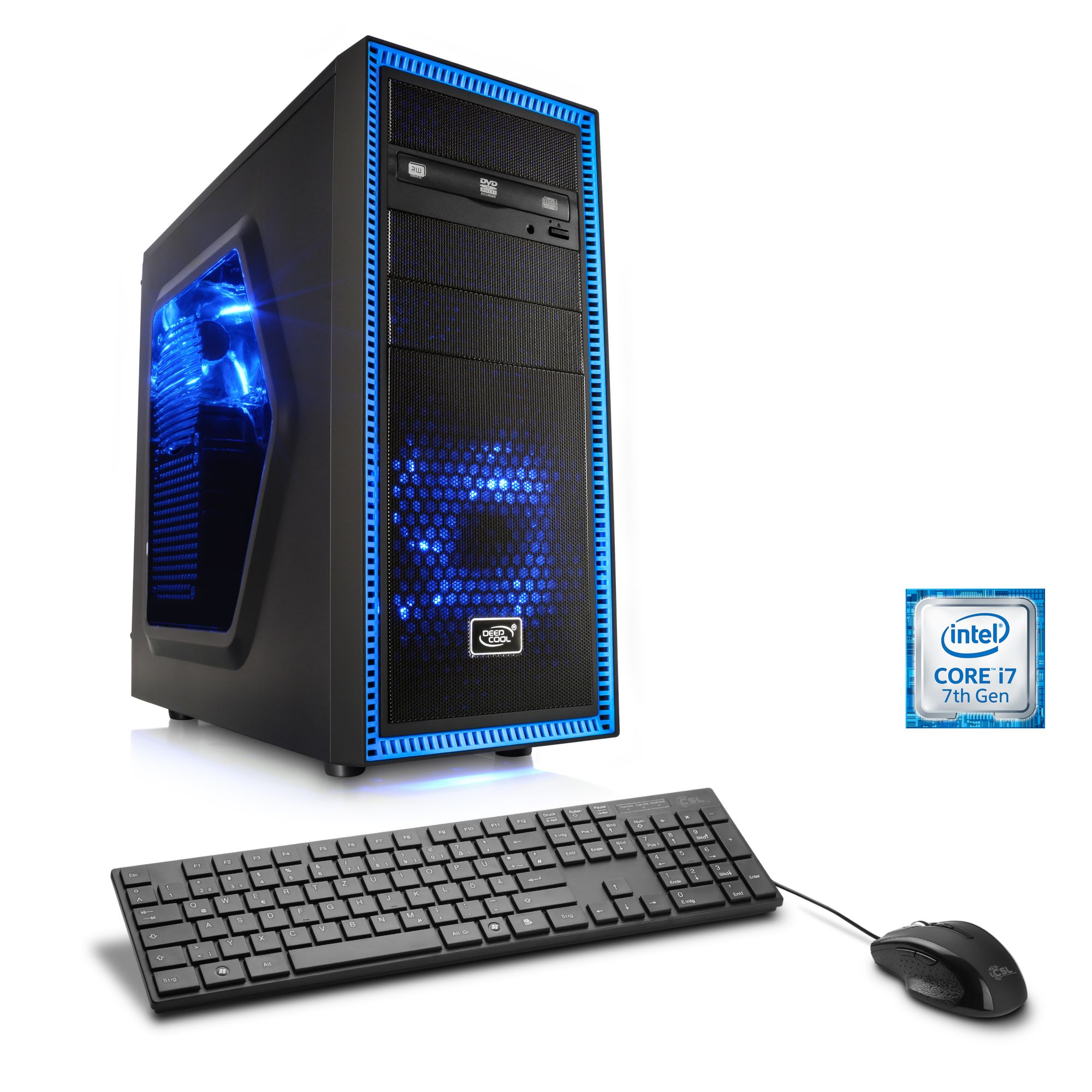 CSL  Extreme Gaming PC | Core i7-7700K | GTX 1080 | 16 GB DDR4 | SSD »Levitas T7415 Windows 10«