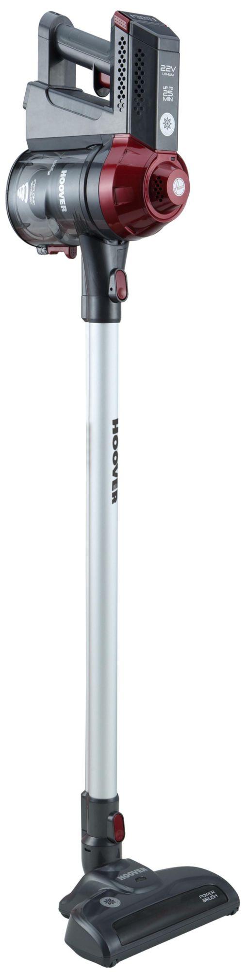 HOOVER Hoover Akku-Stabstaubsauger Freedom FD 22 RP, beutellos, Perlgrau/Intensivrot-metallic