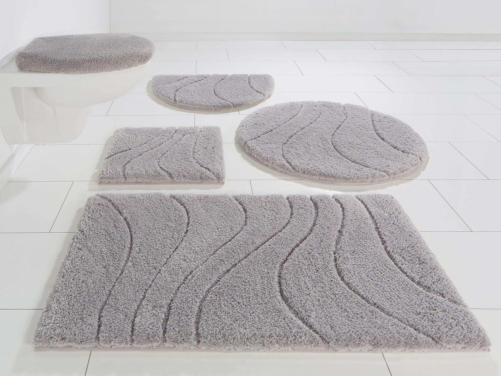 HOME AFFAIRE COLLECTION Badematte, Halbrund, HOME AFFAIRE, »Lola«, Höhe 22 mm, Microfaser, rutschhemmender Rücken