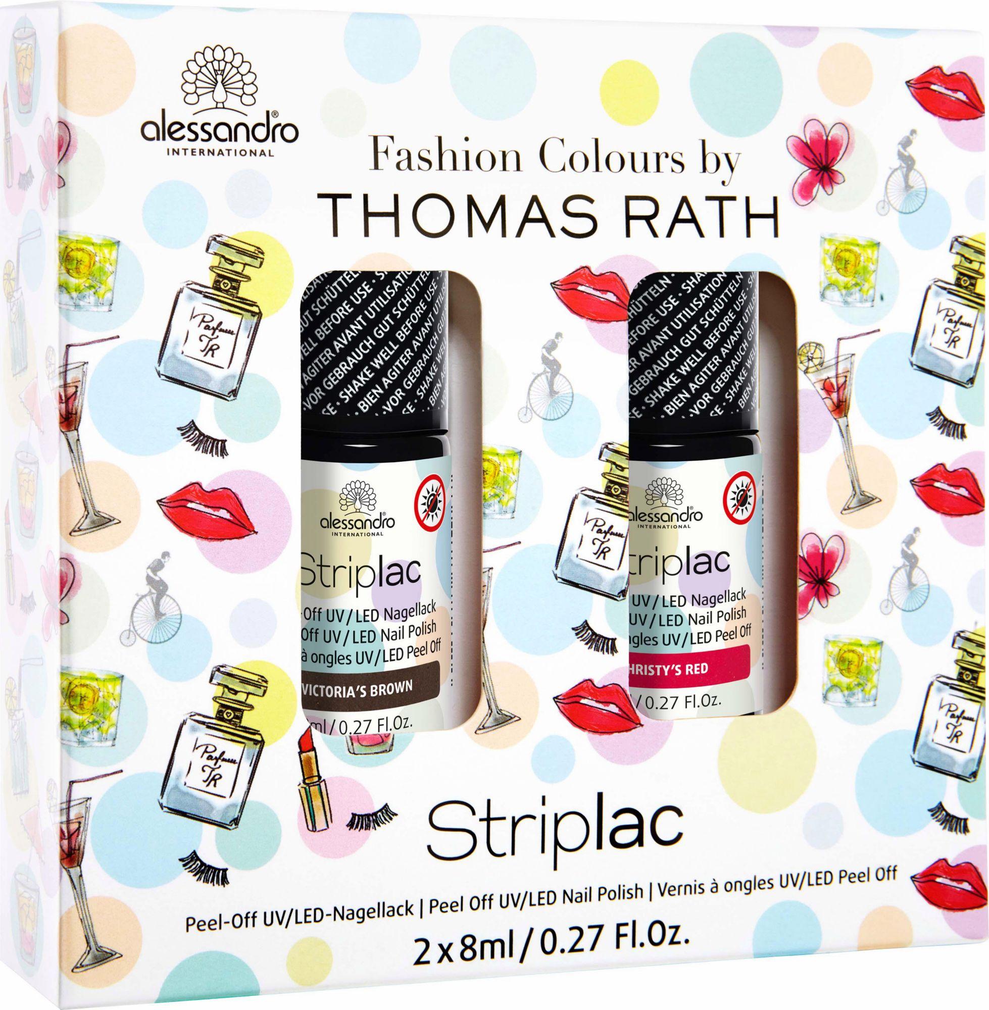 ALESSANDRO INTERNATIONAL Alessandro International, »Thomas Rath Fashion Colours Striplac«, Nagellack-Set