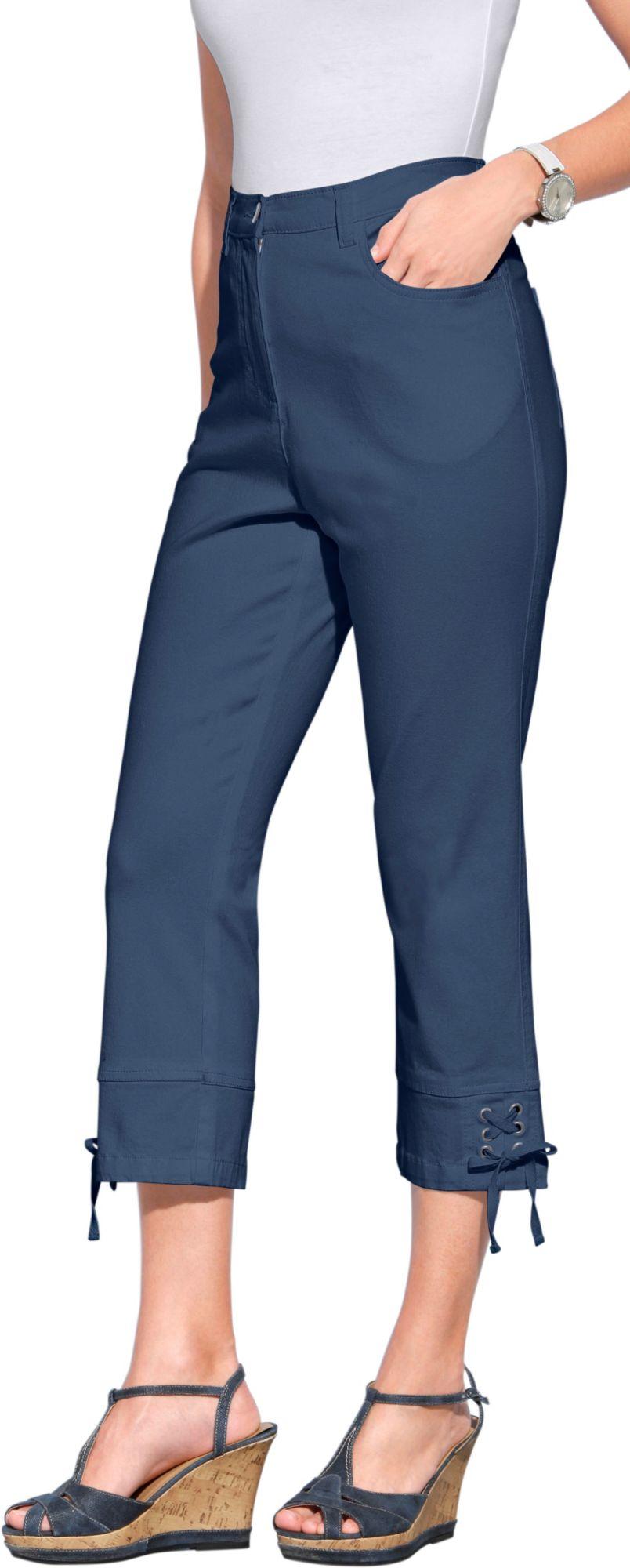 CLASSIC BASICS Classic Basics 3/4-Jeans mit Bindebändern an den Beinabschlüssen