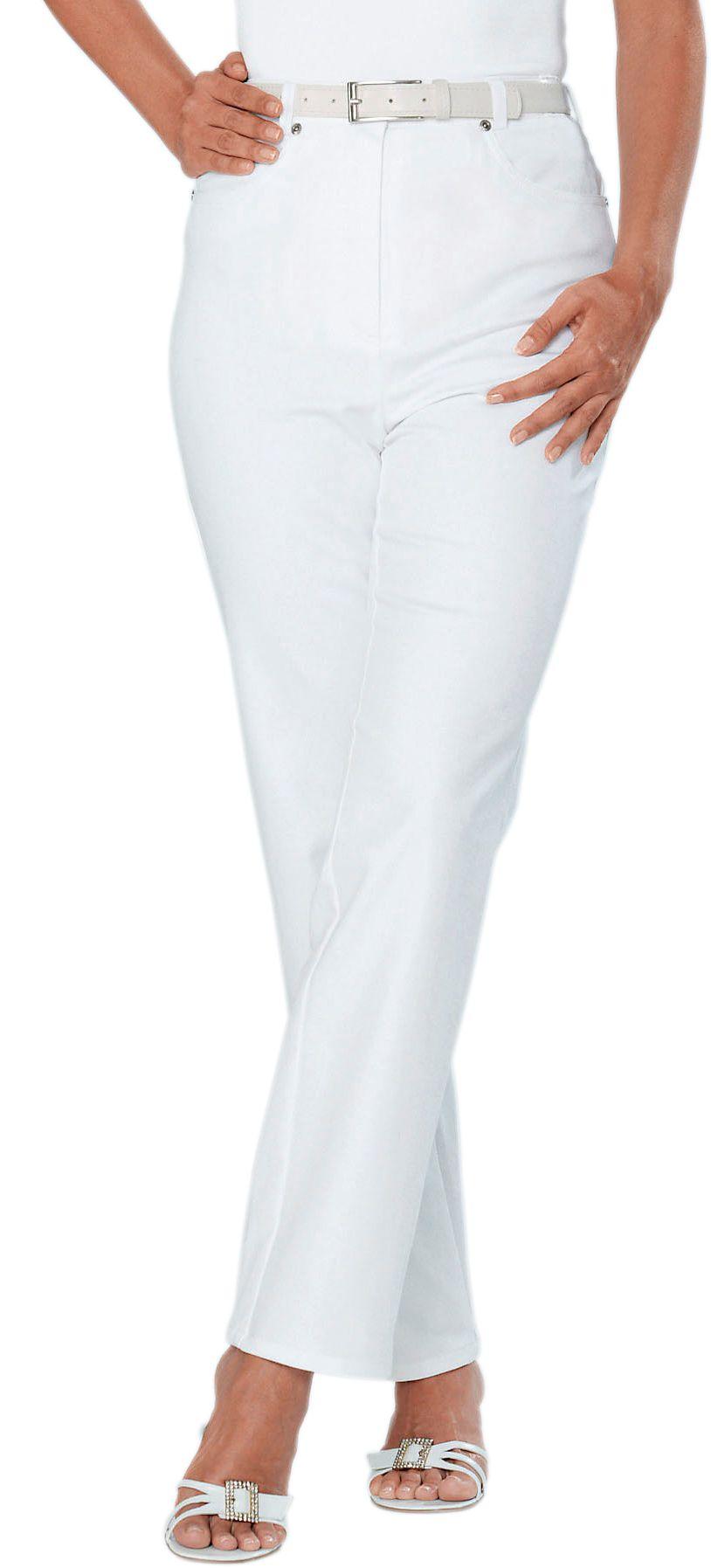 COSMA Cosma Stretch-Jeans mit Plättchenverzierung in Kronenform