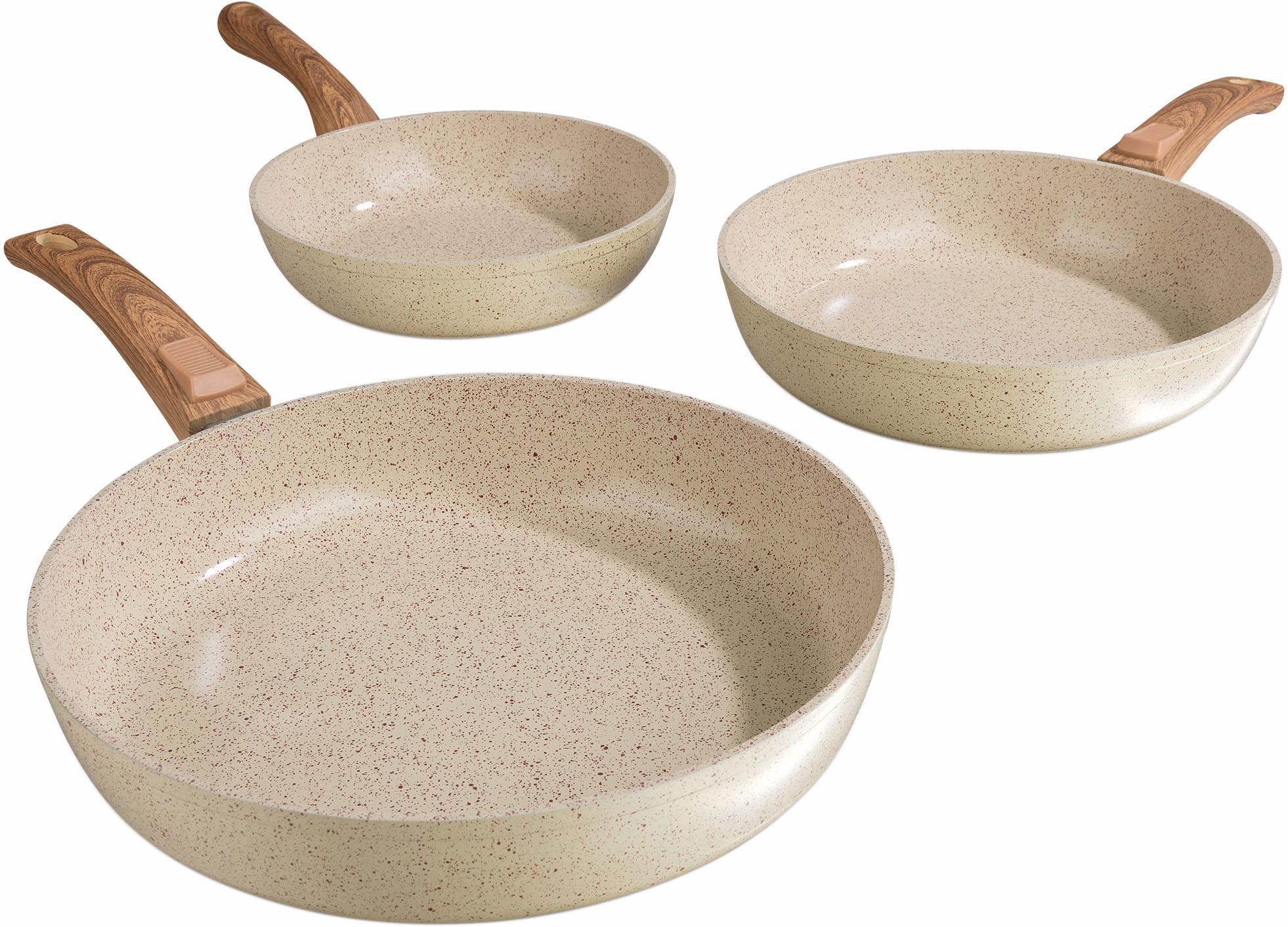 BRATMAXX BRATmaxx Geschmiedete Keramikpfannen, Aluminium, Induktion