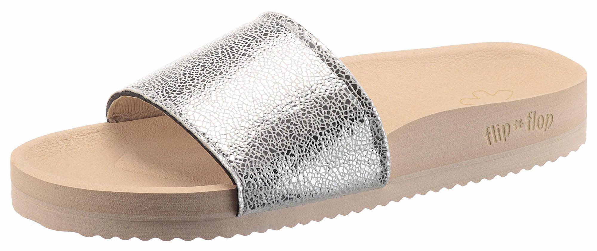 FLIPFLOP Flip Flop Pantolette »Pool Metallic Cracked«