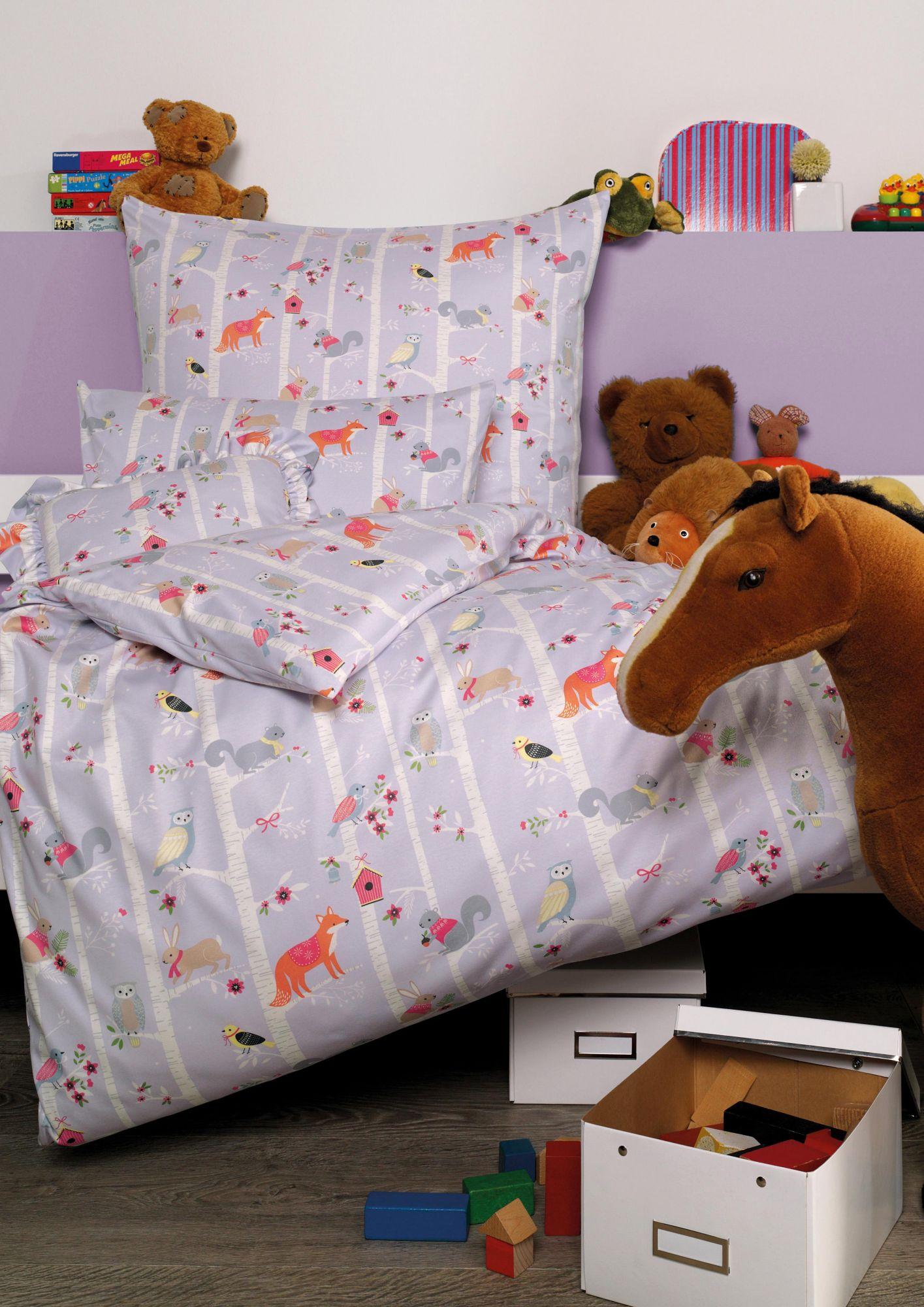 ESTELLA Kinderbettwäsche, Estella, »Forrest«, mit kleinen Tiermotiven