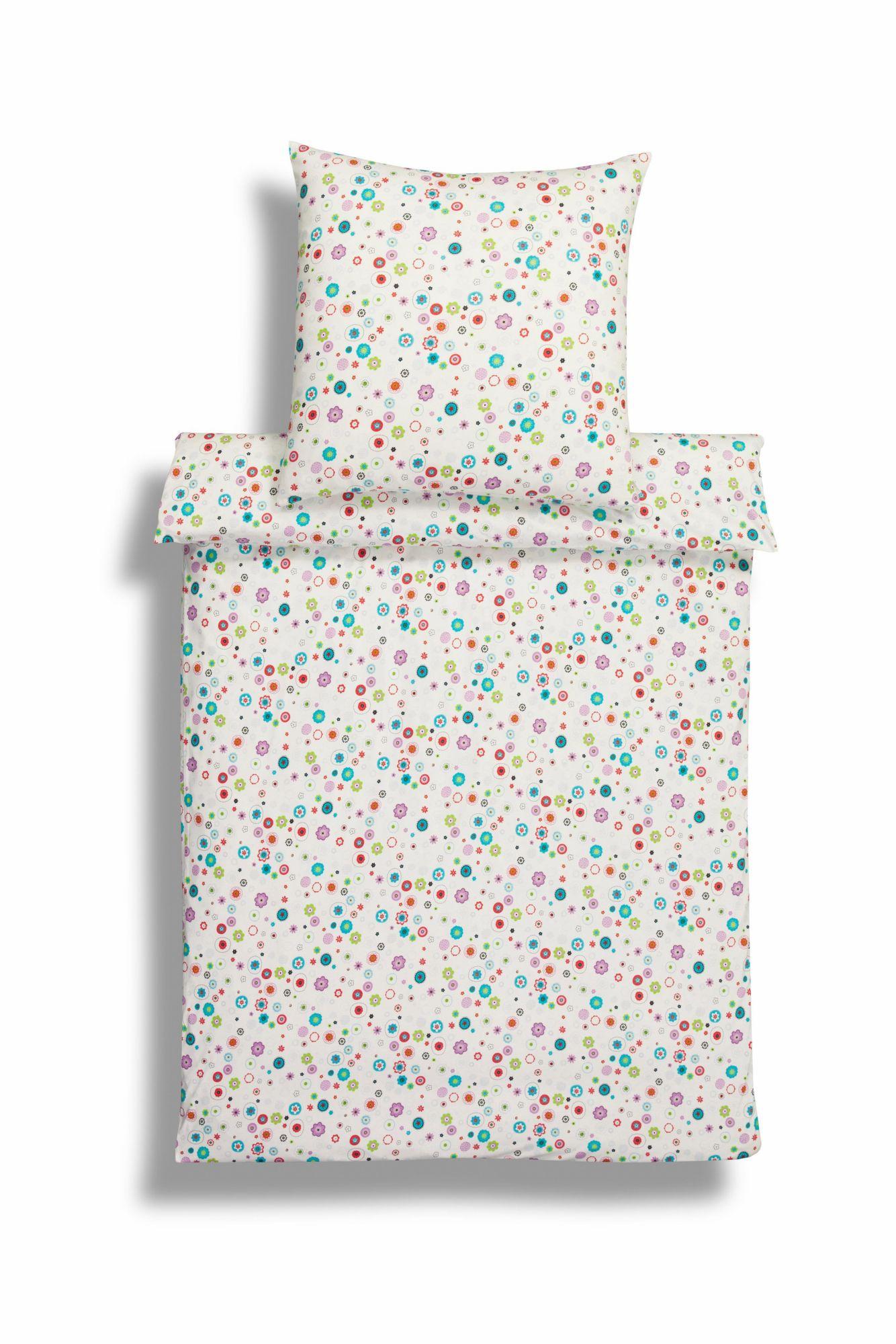 ESTELLA Kinderbettwäsche, Estella, »Flower Power«, mit kleinen Blumenmotiven