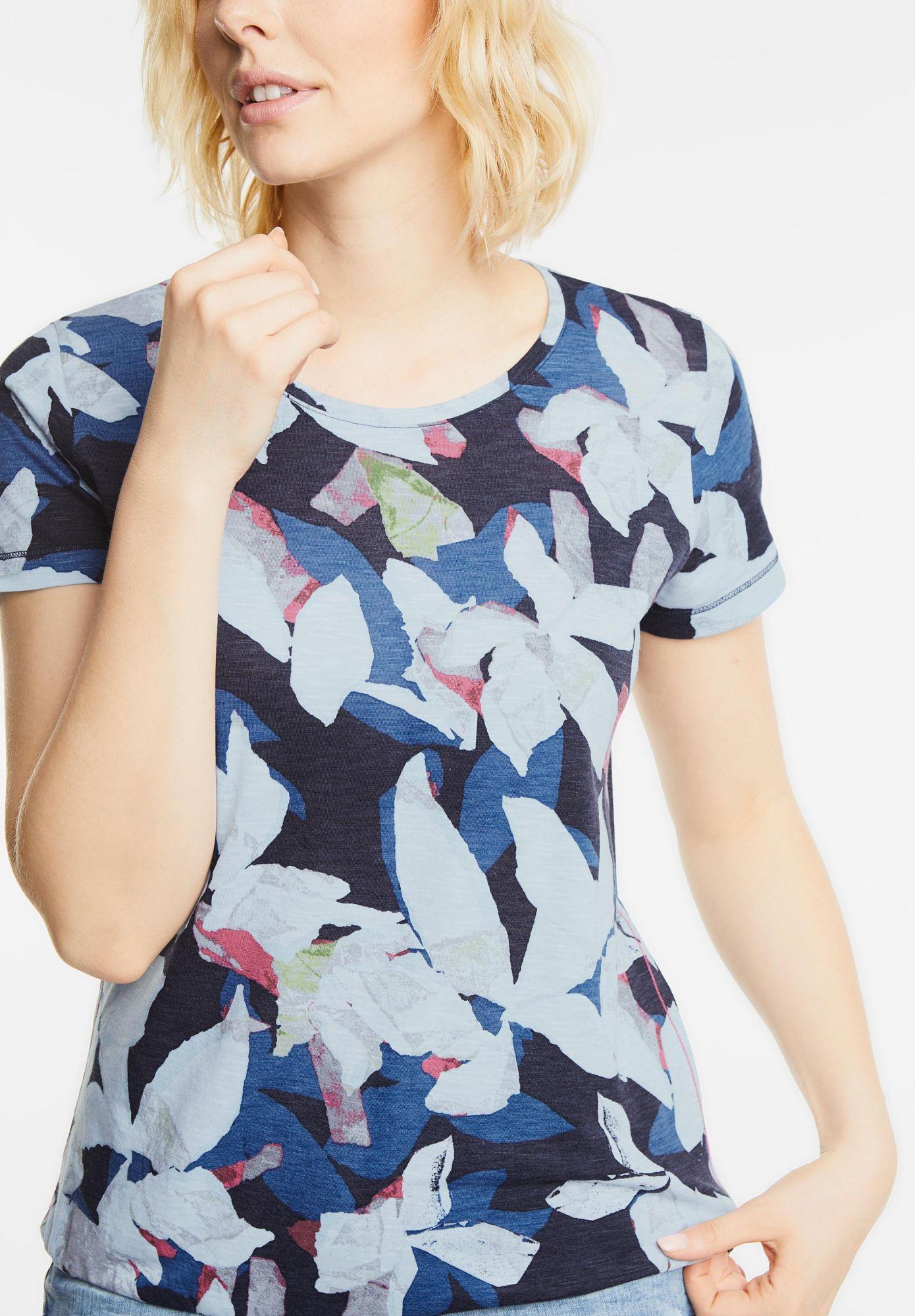 CECIL  Blätter Design Shirt