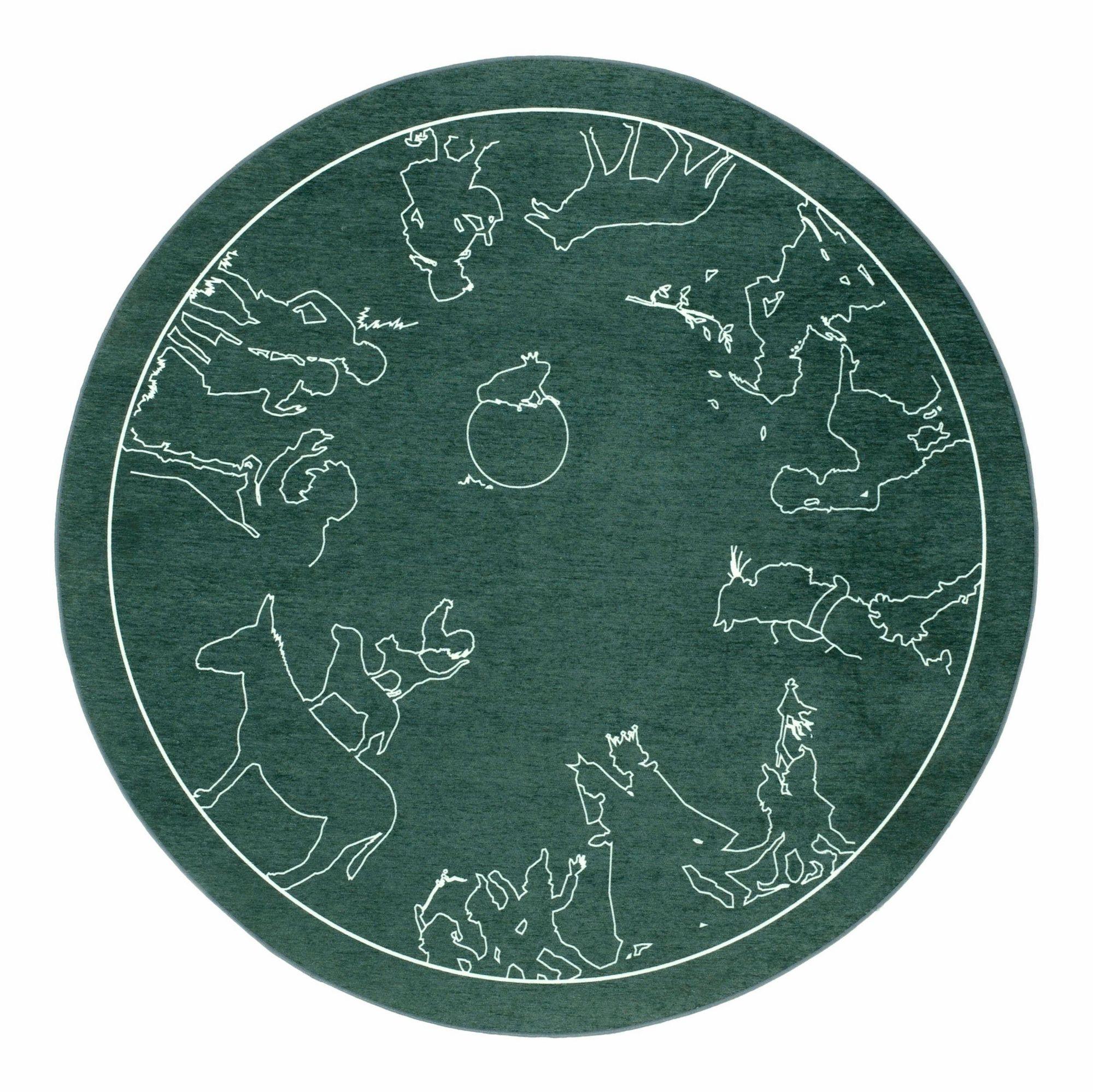 GRIMMLIIS Kinderteppich, »Märchen 7«, grimmliis, rund, Höhe 2 mm, maschinell gewebt