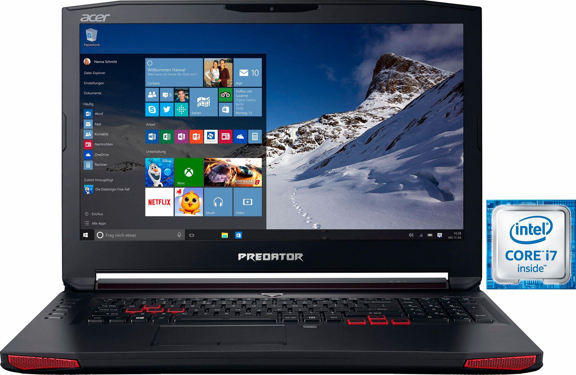 ACER Acer Predator 17 Notebook i7-7700HQ PCIe SSD matt Full HD GTX1070 Windows 10