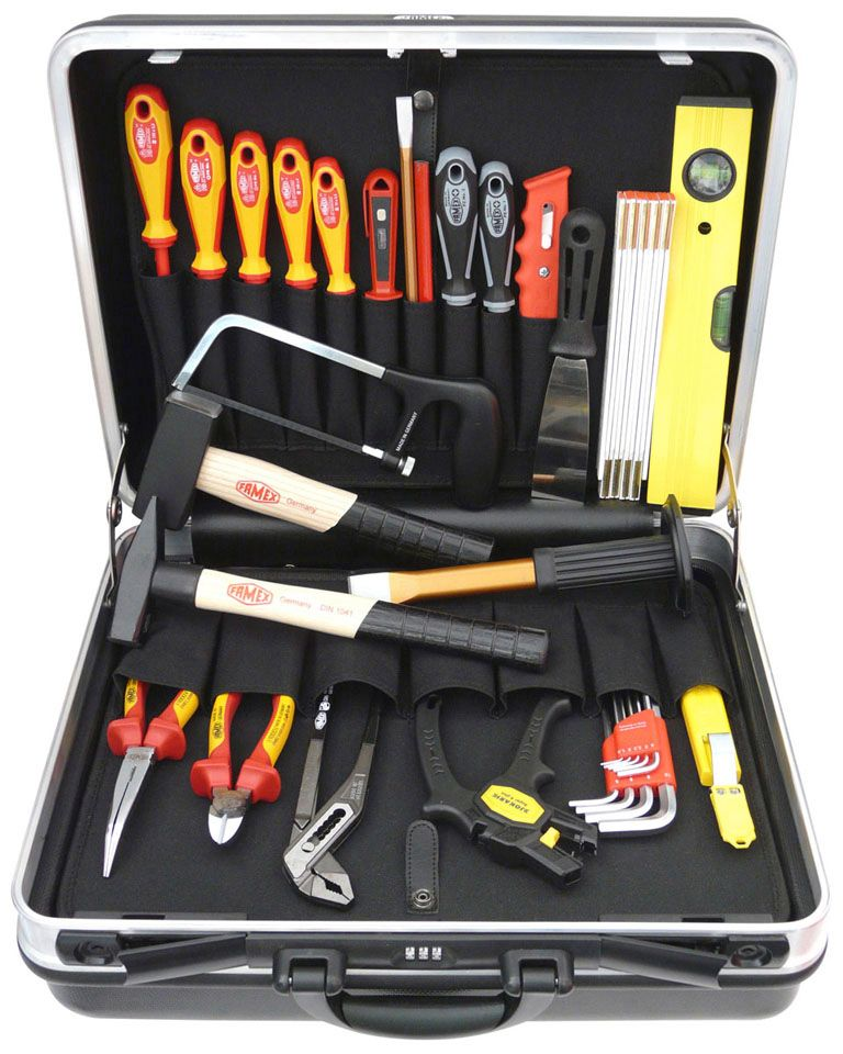 FAMEX  »Elektriker-Werkzeugkoffer«, 31 Teile