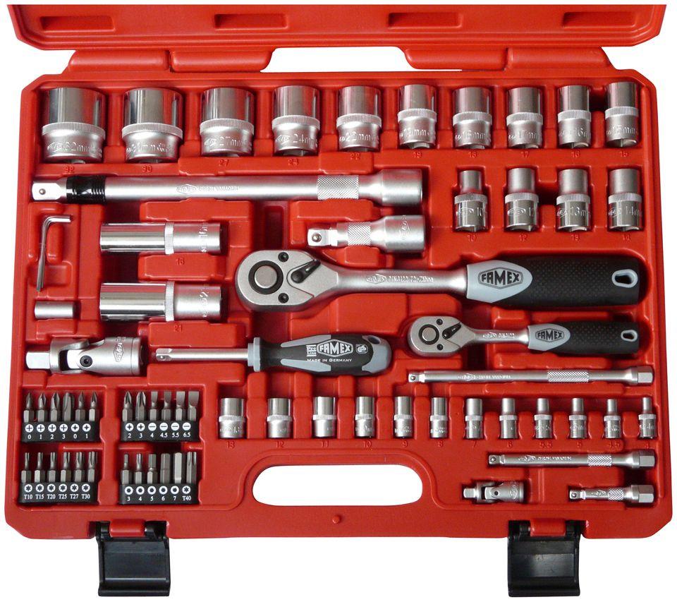 FAMEX  »Mechaniker-Steckschlüsselsatz«, 66 Teile