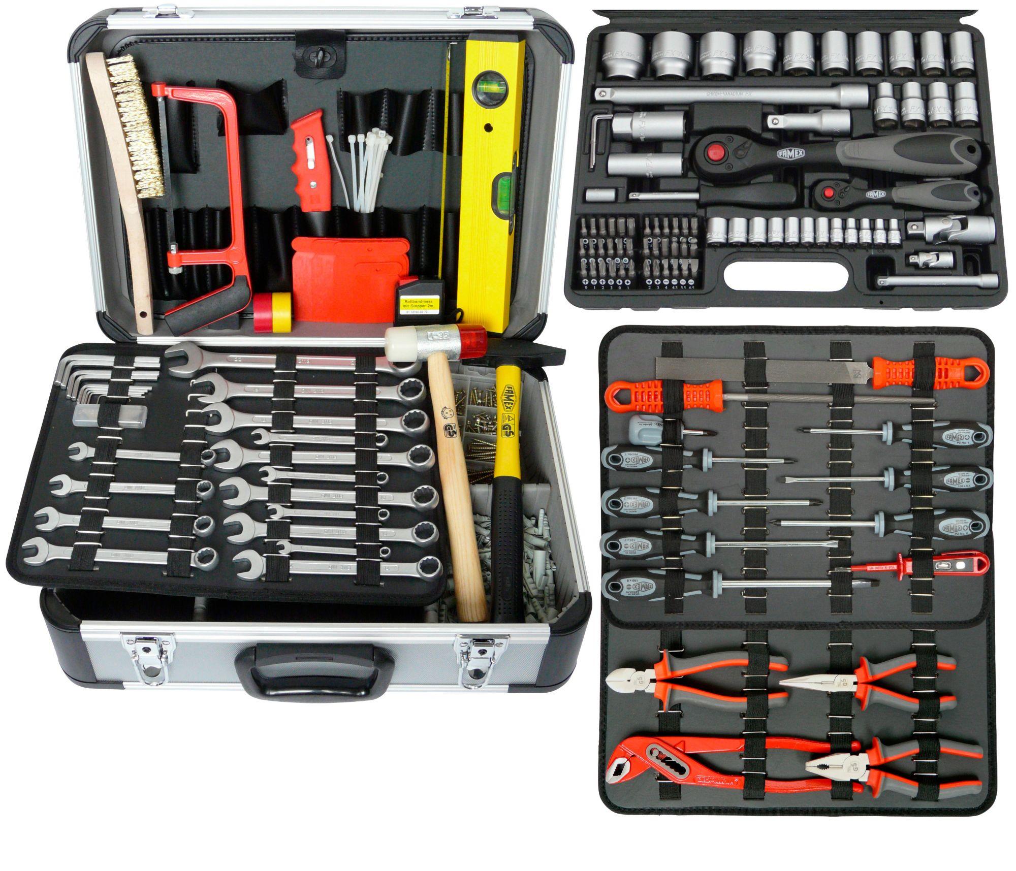 FAMEX  Werkzeugkoffer »Komplettset«, 520 Teile