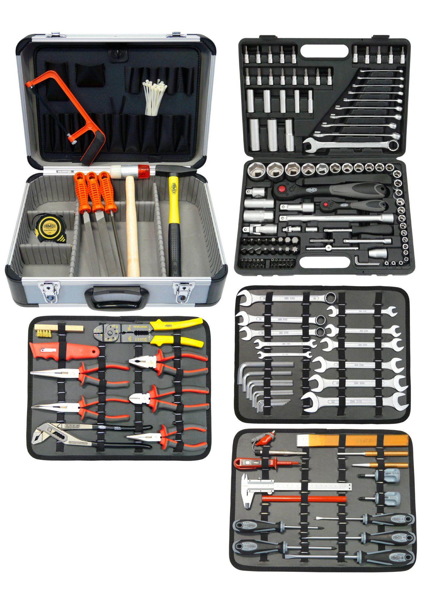 FAMEX  Werkzeugkoffer »Mechaniker Komplettset«, 214 Teile
