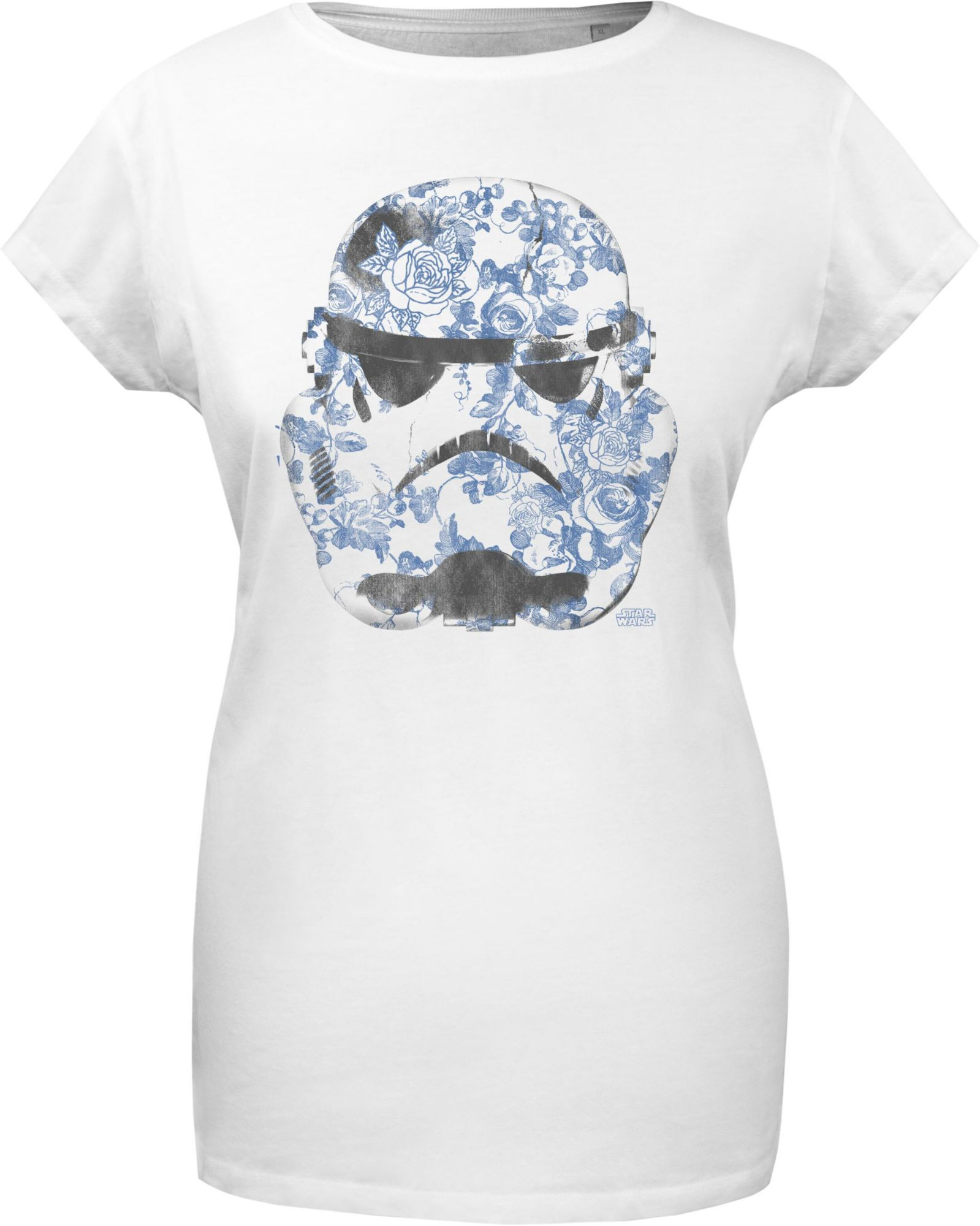 GOZOO Gozoo T-Shirt »Star Wars - Imperial Stormtrooper - Floral - Women«