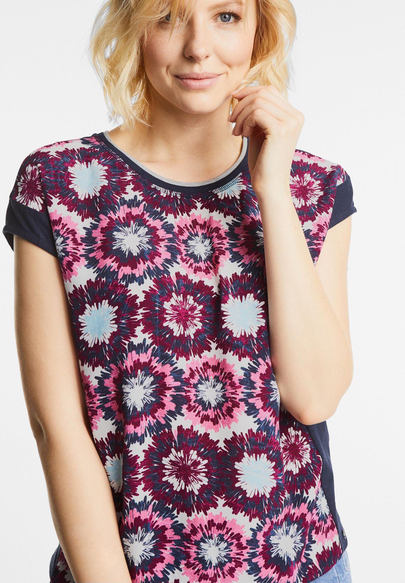 CECIL  Batik Blumen Mix Shirt