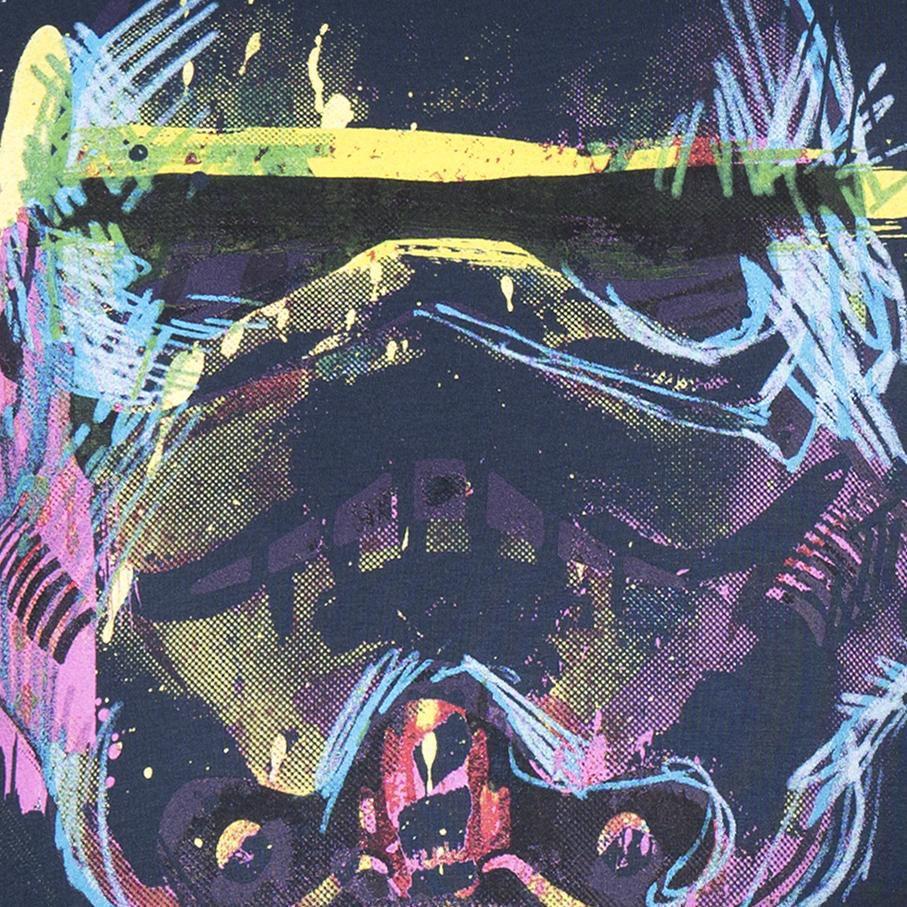 GOZOO Gozoo T-Shirt »Star Wars - Imperial Stormtrooper Neon Sketch Art«