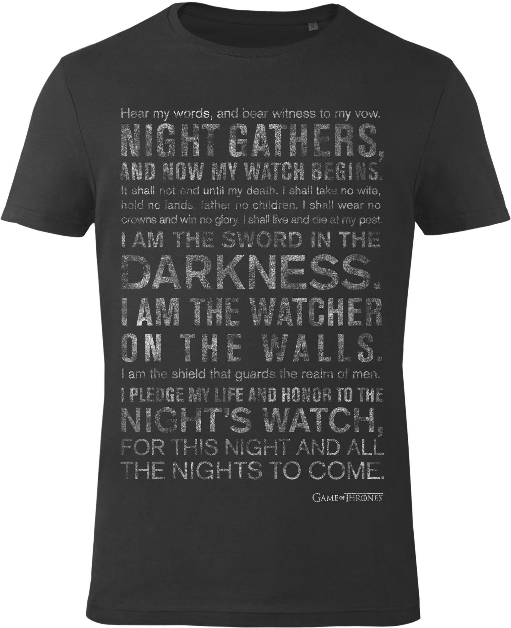 GOZOO Gozoo T-Shirt »Game of Thrones - Night's Watch Oath«