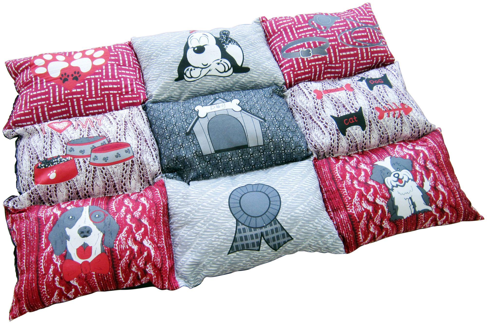 HEIM  Hunde-Decke »Patchwork«, BxL: 55x80 cm, gesteppt, rot