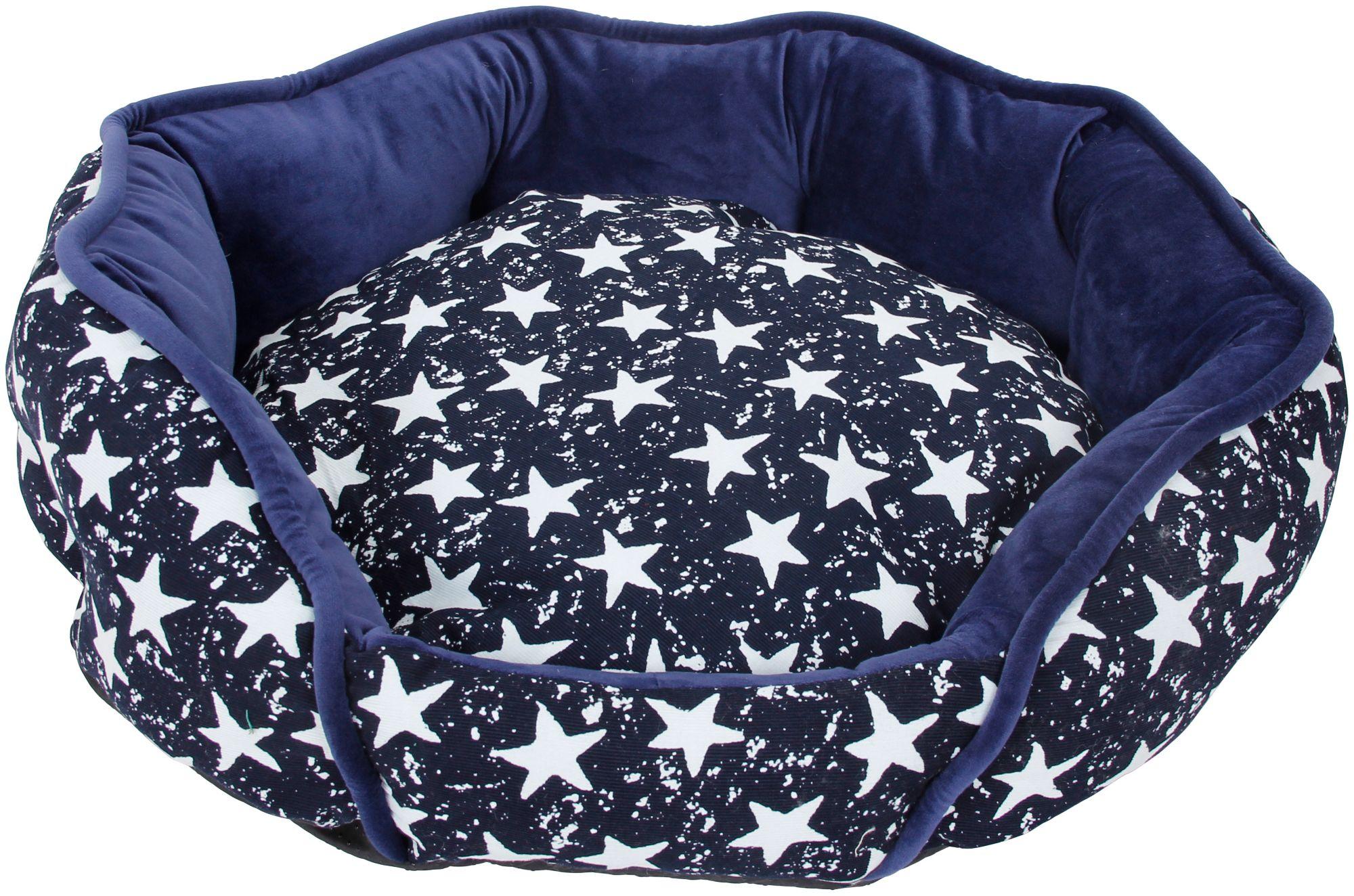HEIM  Hundebett und Katzenbett »Luxus - Star«, blau-weiß