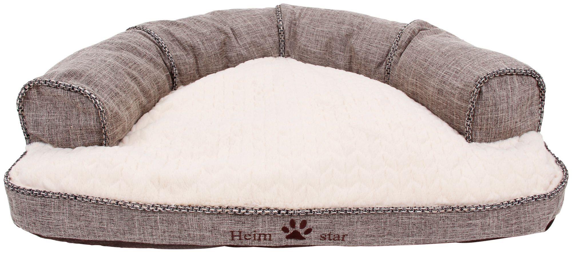 HEIM  Hundesofa und Katzensofa »Heimstar«, BxL: 58x75 cm, hellbraun-weiß