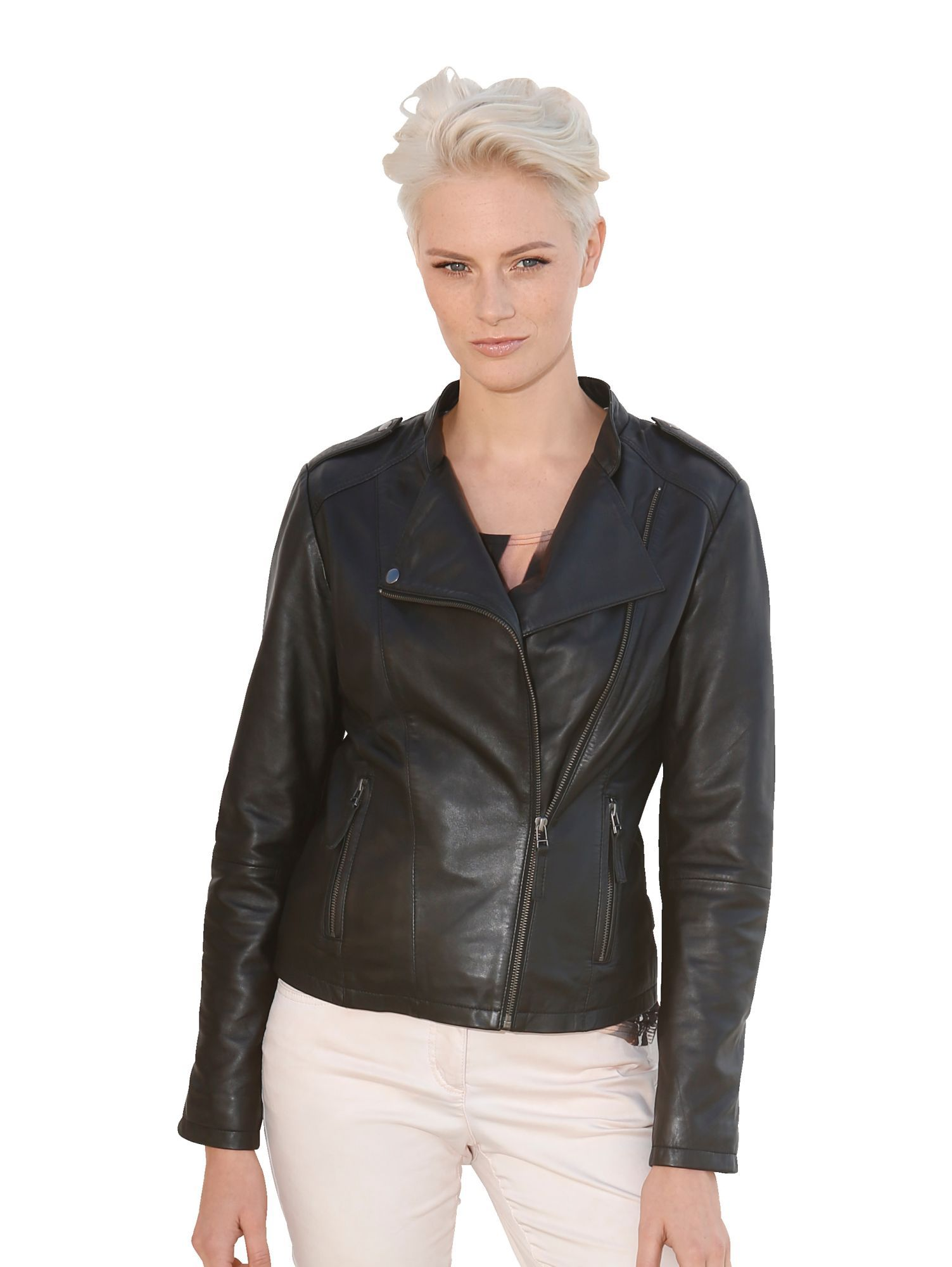 AMY VERMONT Amy Vermont Lederjacke in figurnaher Form