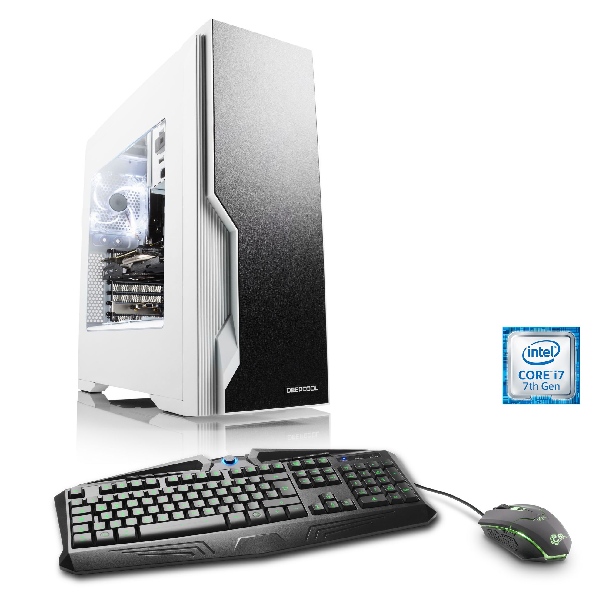 CSL  Extreme Gaming PC | i7-7700K | GTX 1080 | 32GB DDR4 | 250GB SSD »Immortalis T7535 Windows 10«