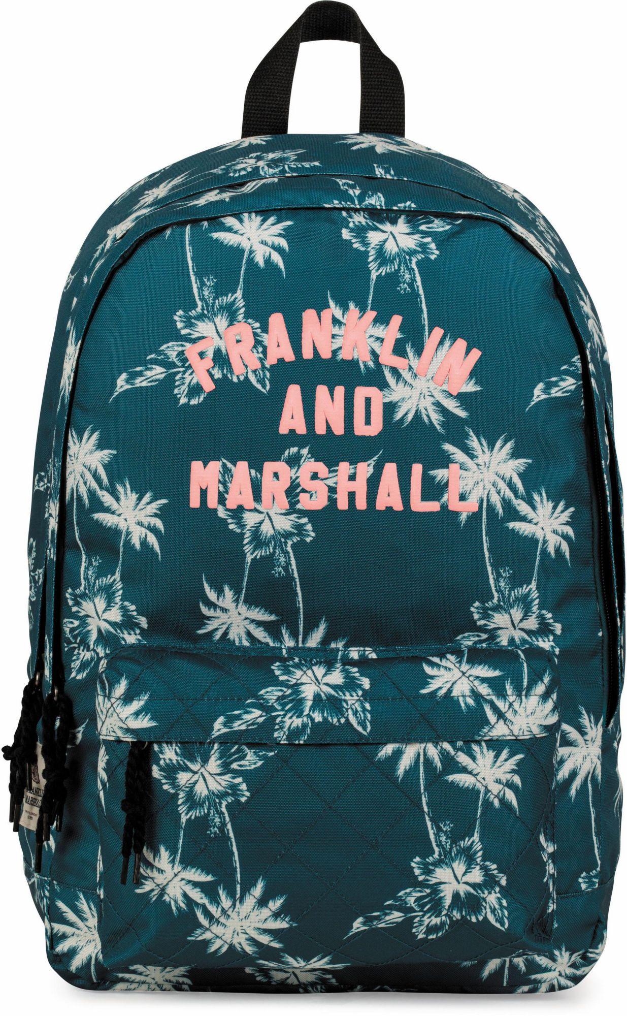 FRANKLIN MARSHALL Franklin & Marshall Rucksack mit 2 Hauptfächern, »Girls, Palmen, petrol«