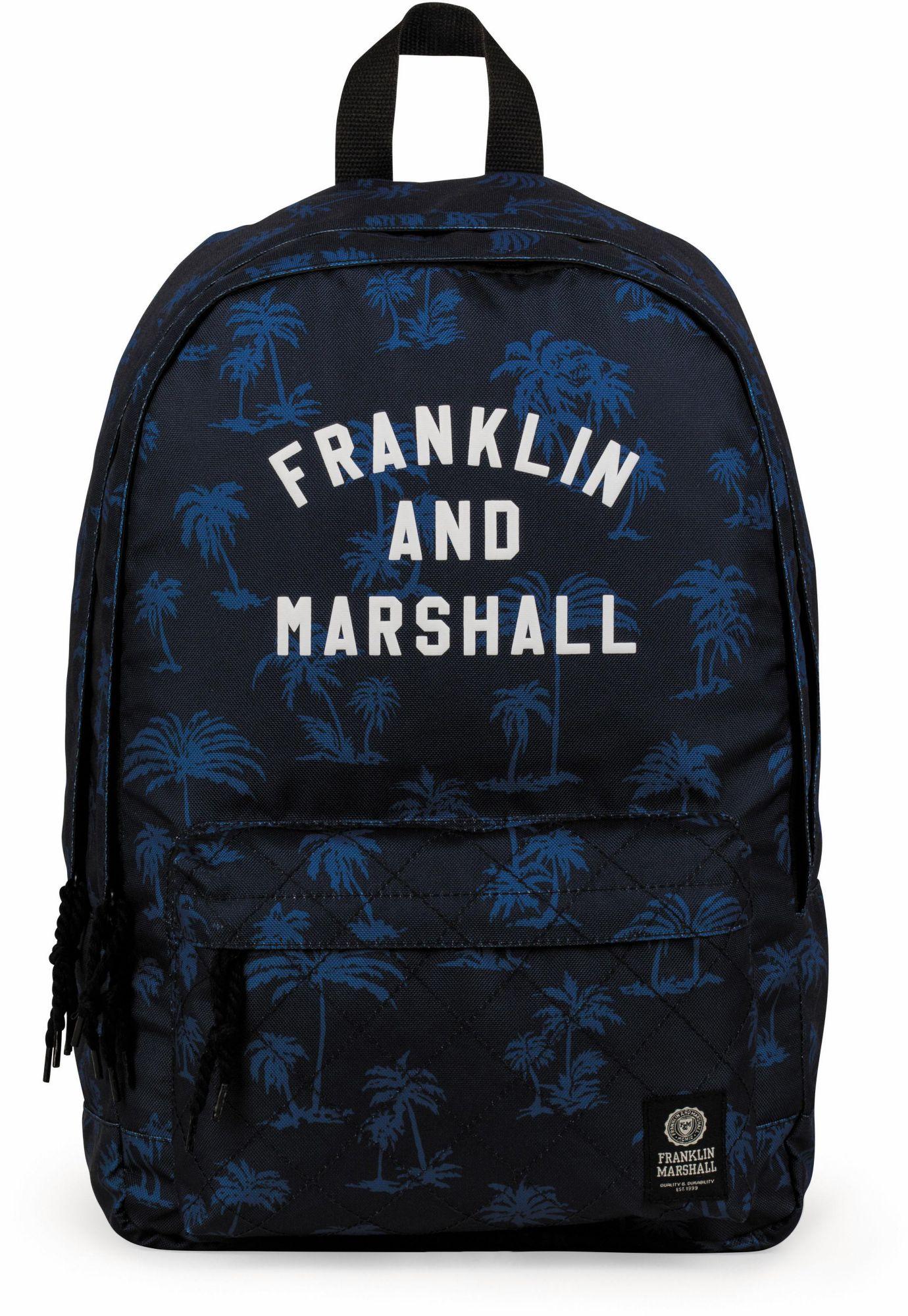 FRANKLIN MARSHALL Franklin & Marshall Rucksack mit 2 Hauptfächern, »Boys, Palmen, blau«