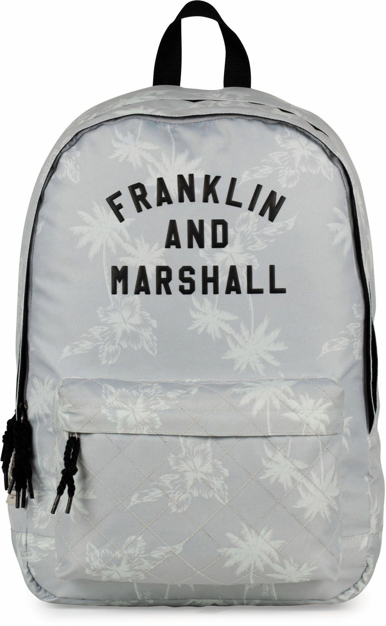 FRANKLIN MARSHALL Franklin & Marshall Rucksack mit 2 Hauptfächern, »Girls Palmen, grau«