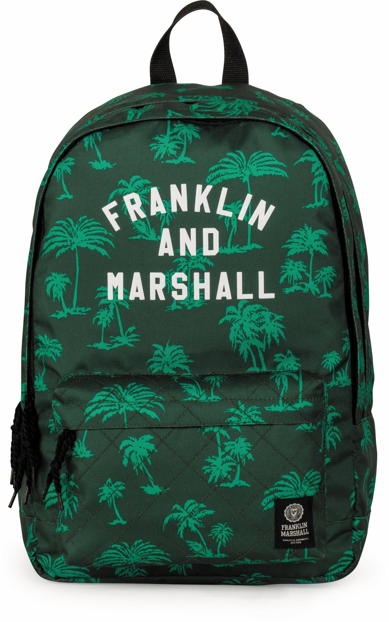 FRANKLIN MARSHALL Franklin & Marshall Rucksack mit 2 Hauptfächern, »Boys Palmen grün«