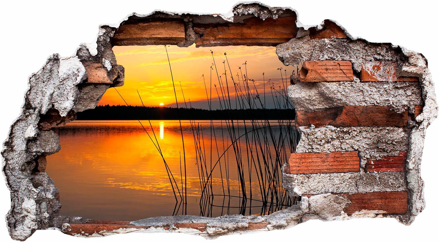 3D Wandtattoo »Sonnenuntergang am See«, 60/32 cm