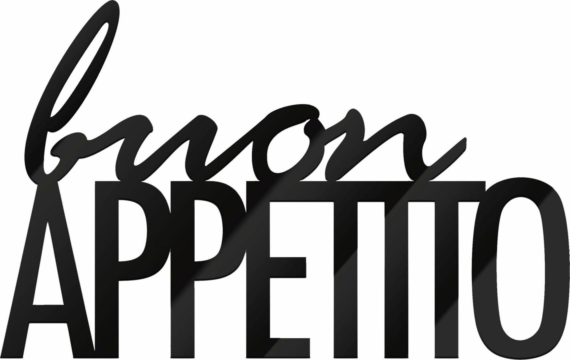 Acrylbuchstaben »Buon Appetito«, 48/30 cm