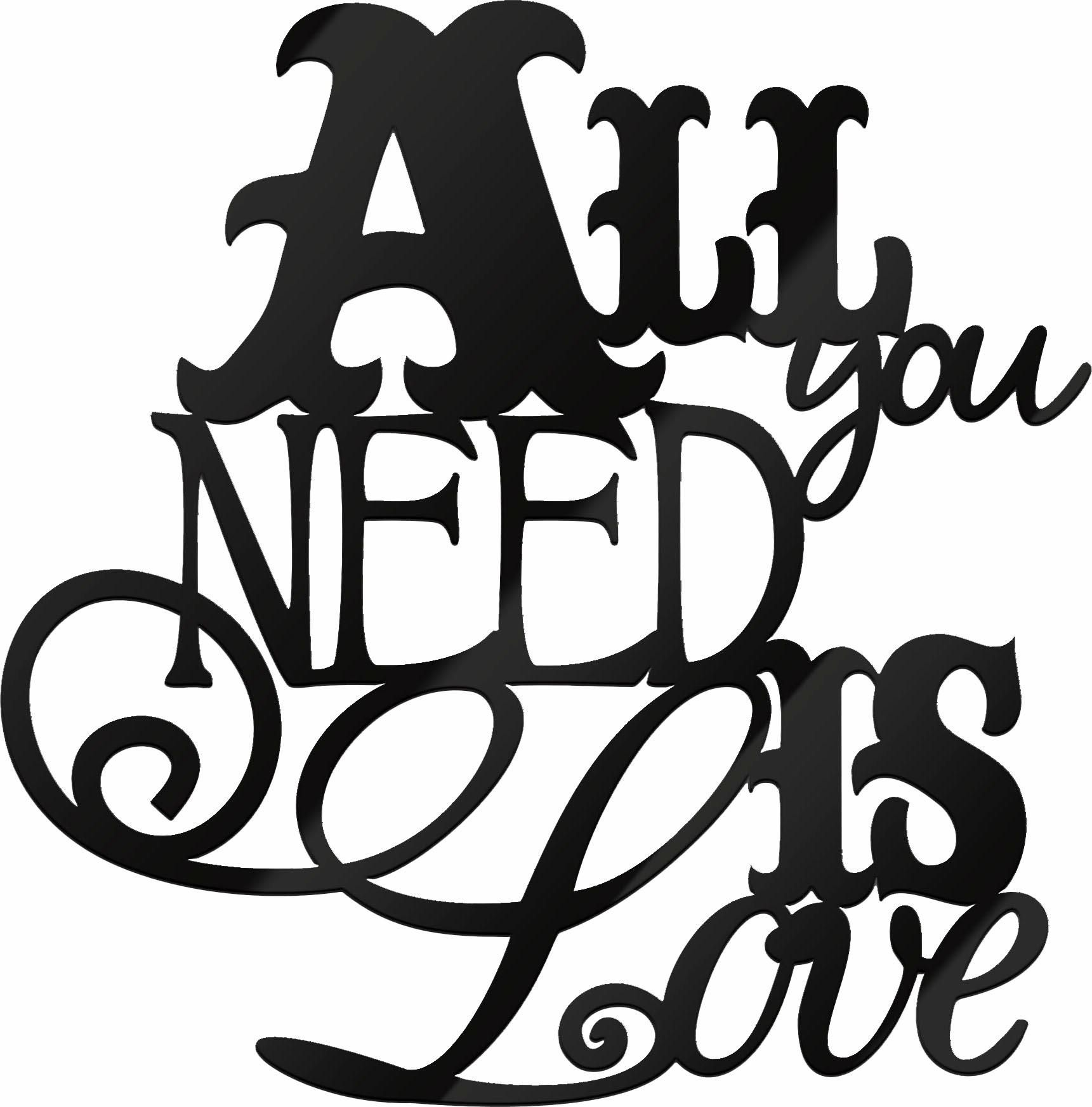 Acrylbuchstaben »All you need is Love«, 30/30 cm