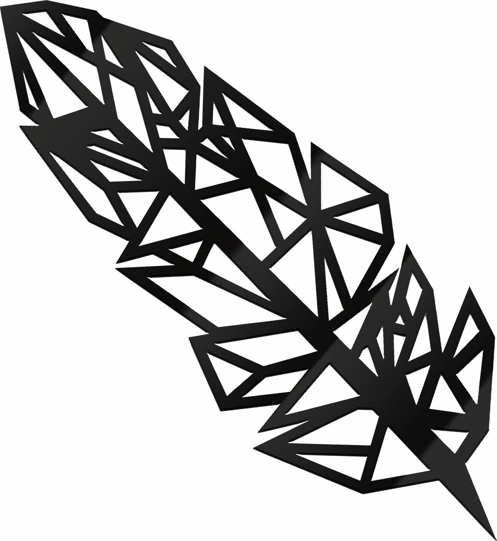 Acryldeko »Origami Feder«, 15/40 cm