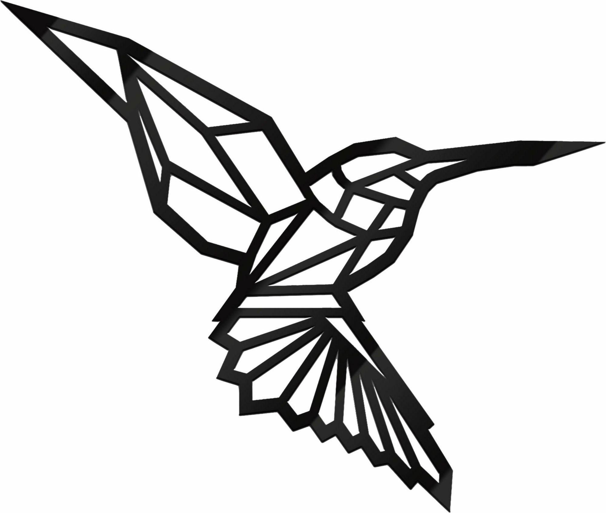 Acryldeko »Origami Kolibri«, 30/25 cm